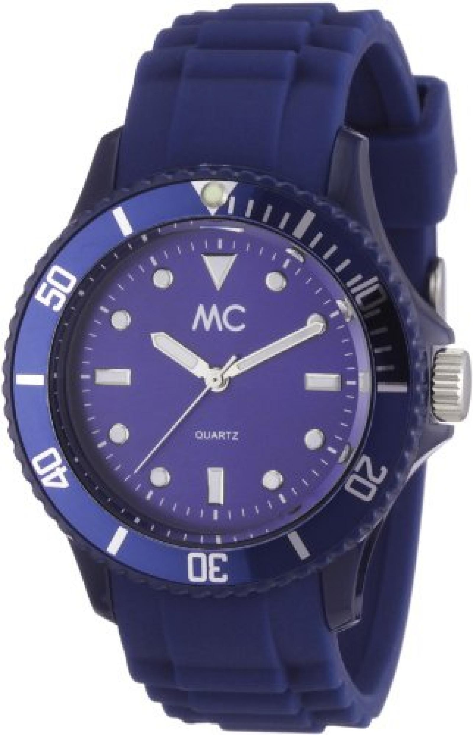 MC Timetrend Unisex-Armbanduhr Happy Time Analog Quarz Kunststoff blau 27372