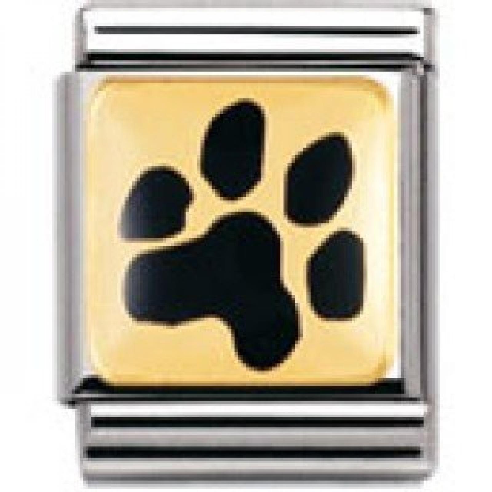 Nomination Composable Big TIERE - LAND (Abdruck Hundepfote) ( 032210-35)
