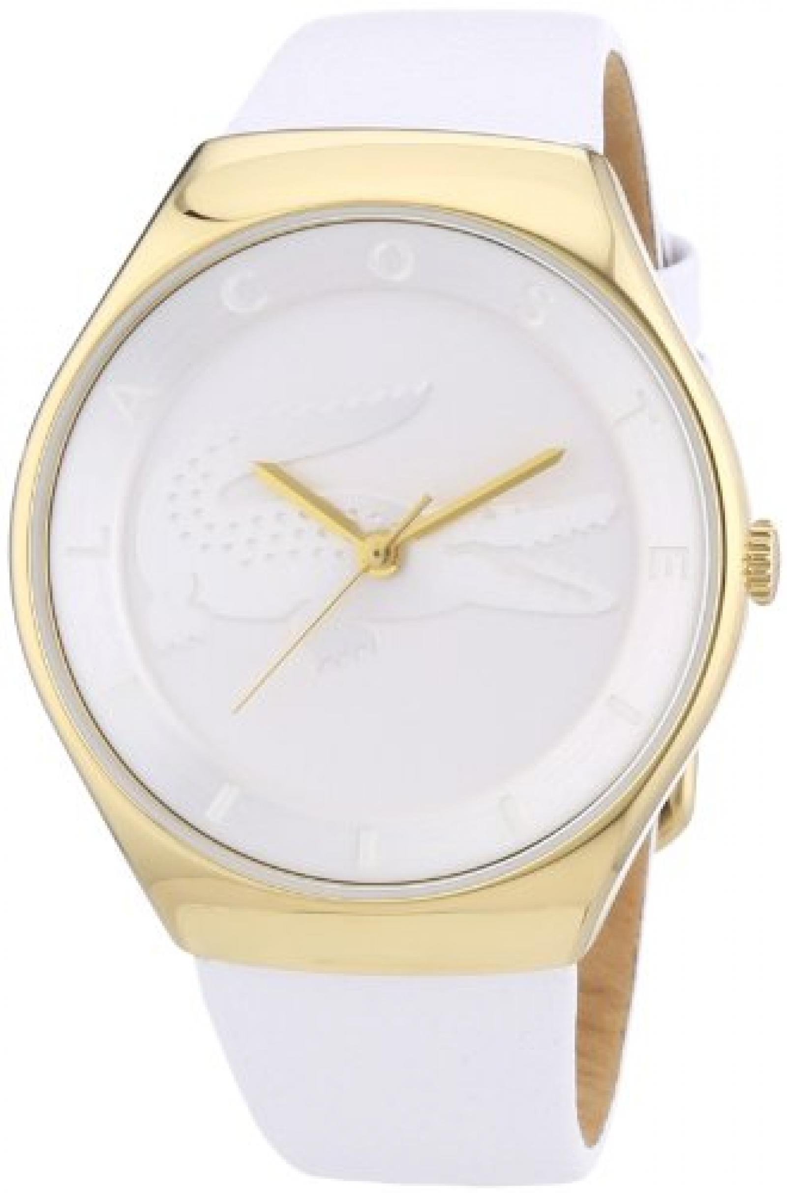 Lacoste Damen-Armbanduhr Analog Quarz Leder 2000763