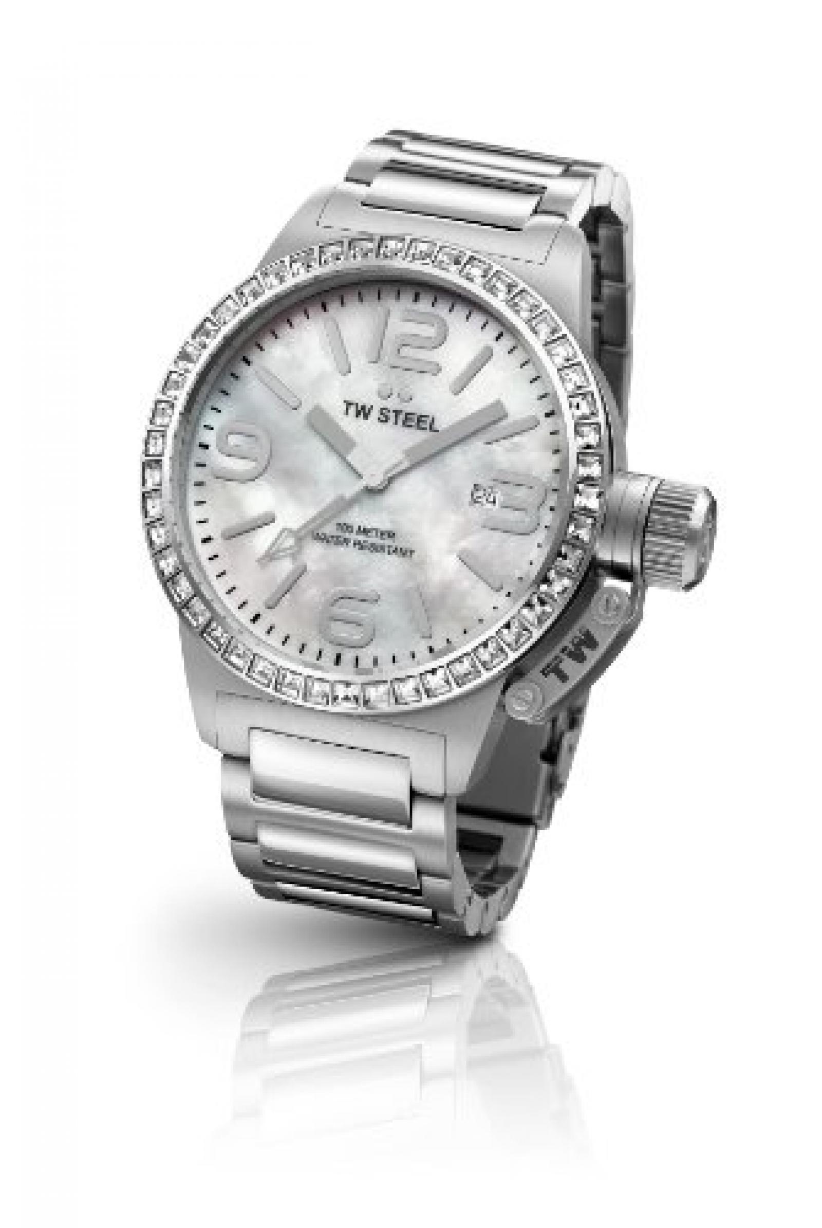 TW Steel Damen-Armbanduhr Canteen Style bracelet Analog Quarz Edelstahl TW-302