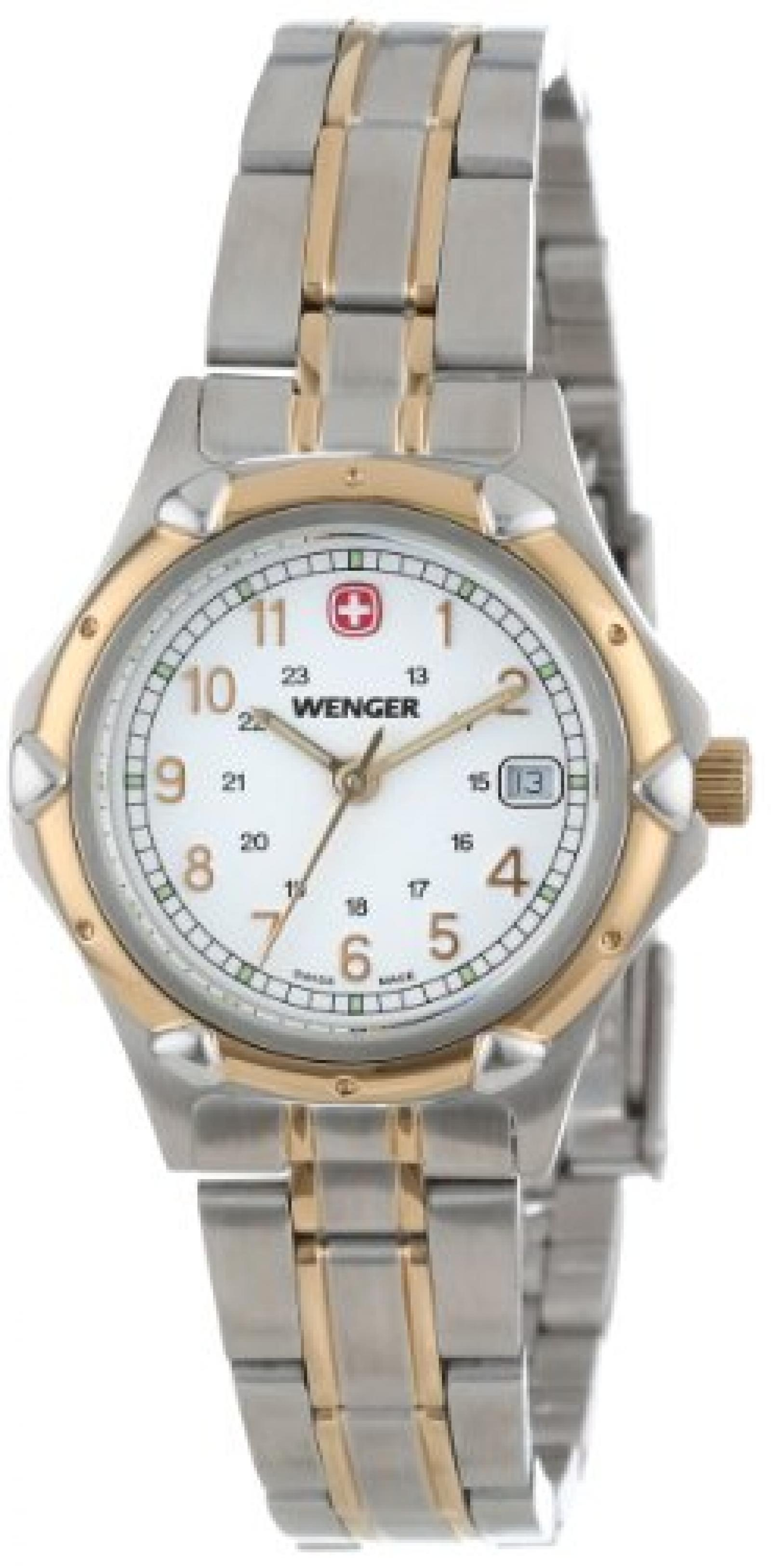 Wenger Womens 70609 Standard Issue White Dial Two-Tone Armbanduhr