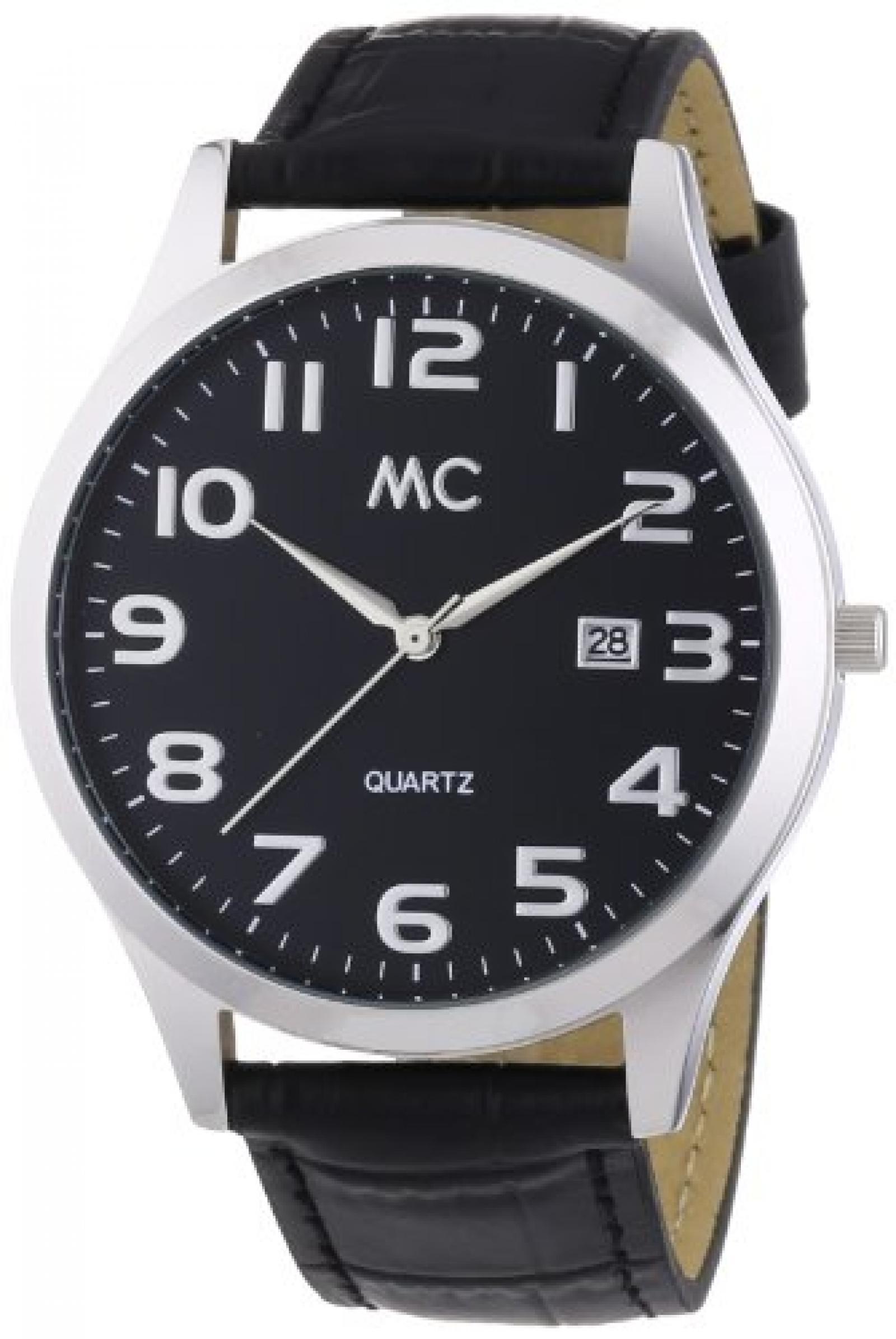 MC Timetrend Herren-Armbanduhr Analog Quarz Leder 27670