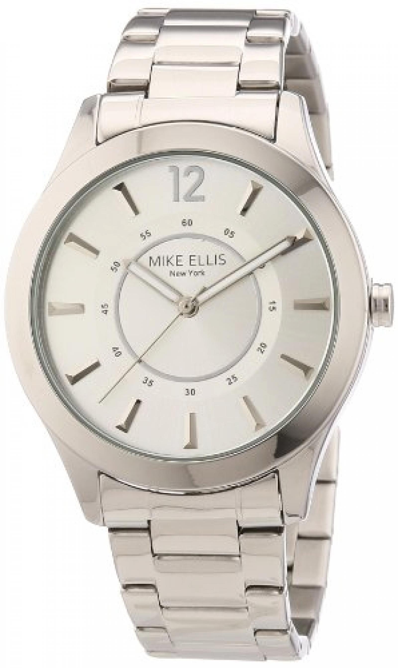 Mike Ellis New York Damen-Armbanduhr Analog Quarz Edelstahl M2756ASM