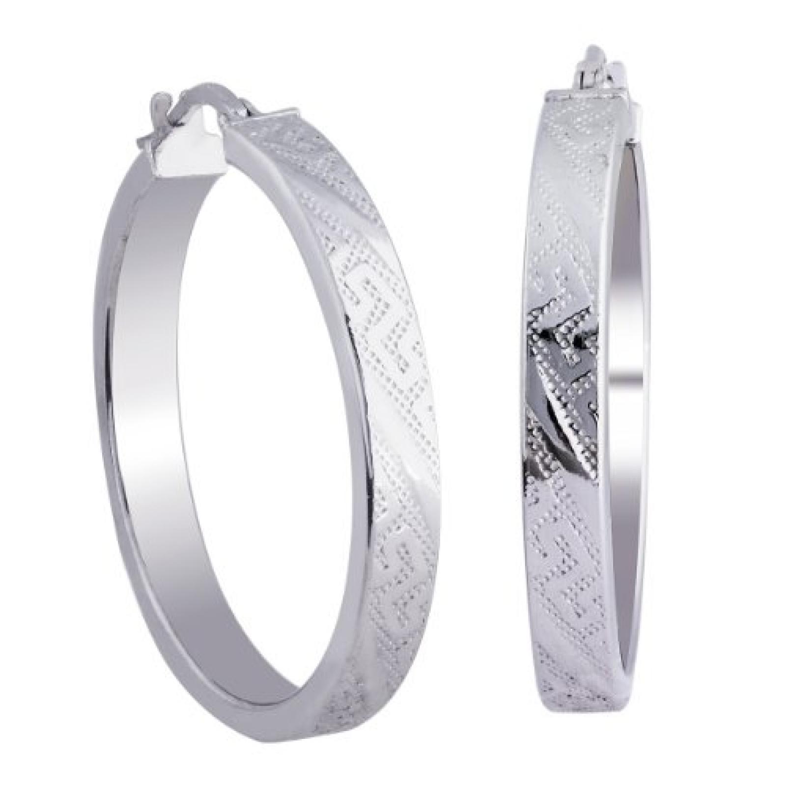 Bella Donna Damen-Creolen 925 Sterling Silber 7620OHR9