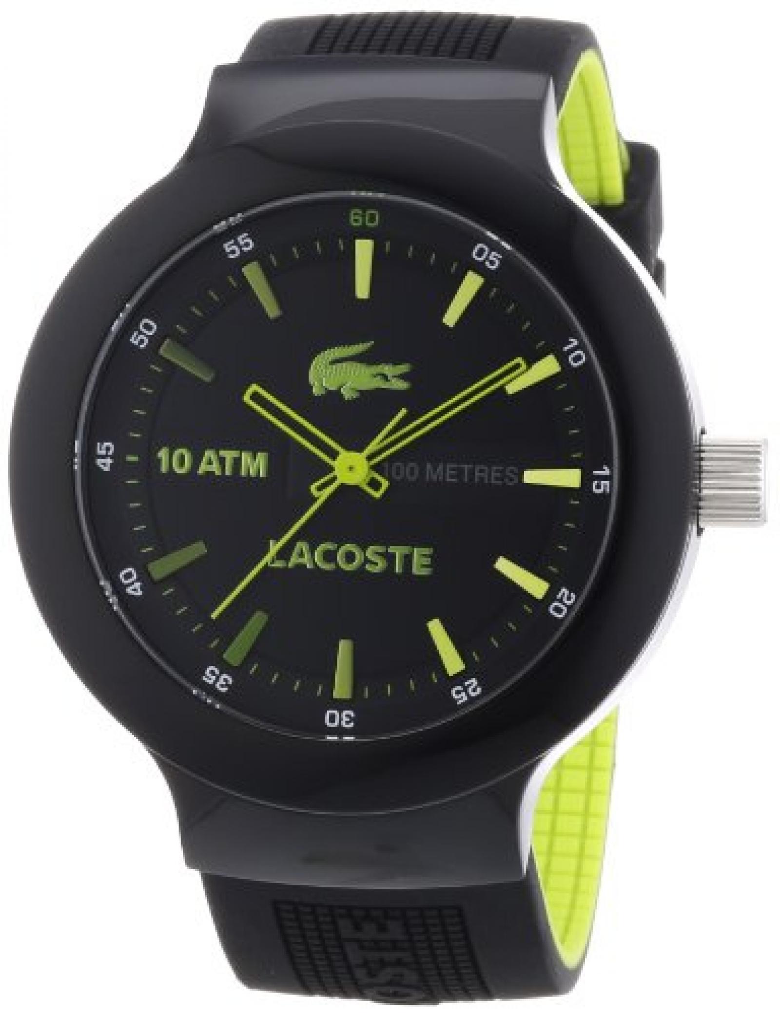 Lacoste Herren-Armbanduhr XL Analog Quarz Silikon 2010656