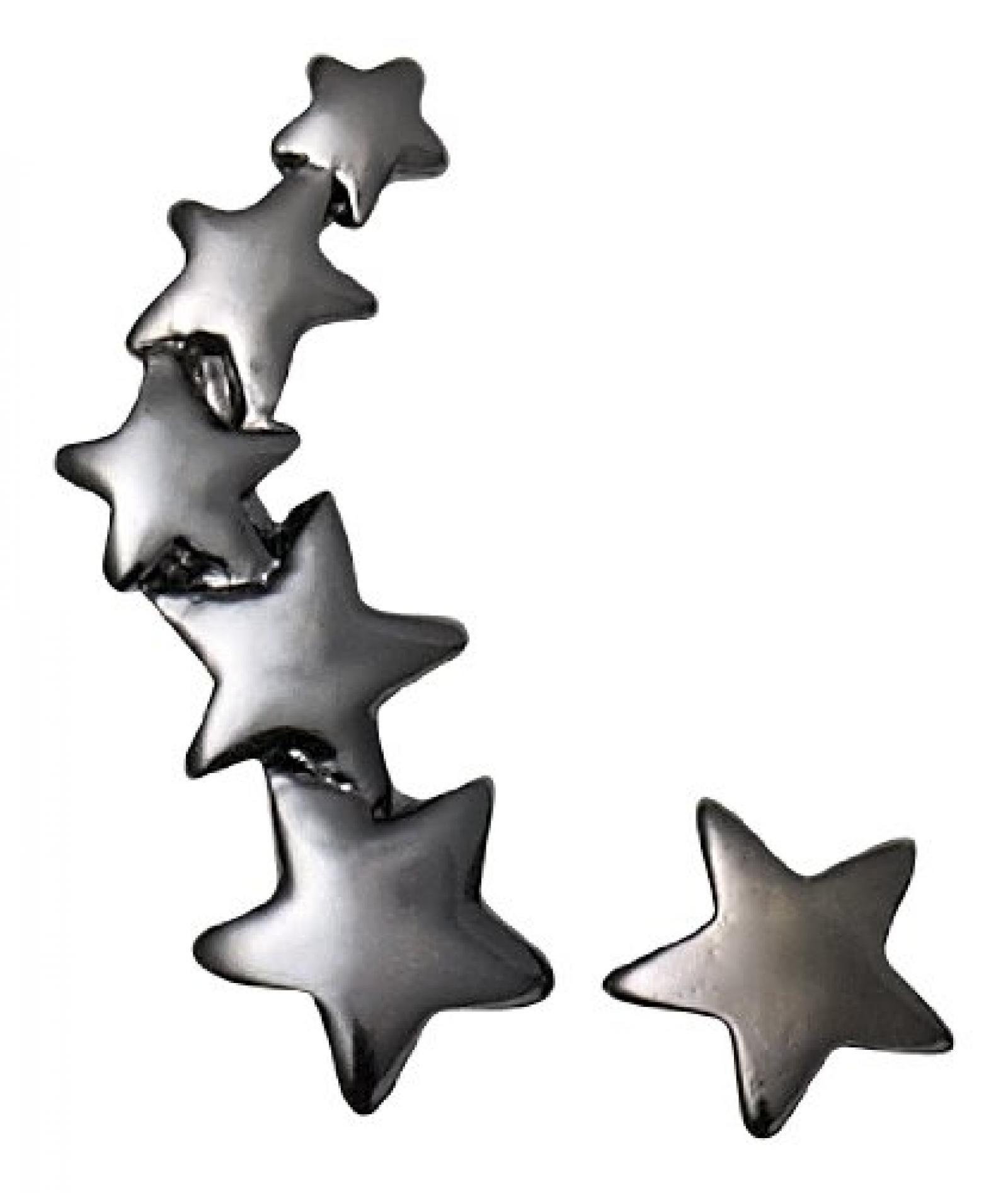 Pilgrim Jewelry Damen-Ohrstecker aus der Serie Classic hematite beschichtet 2.0 cm 601313053