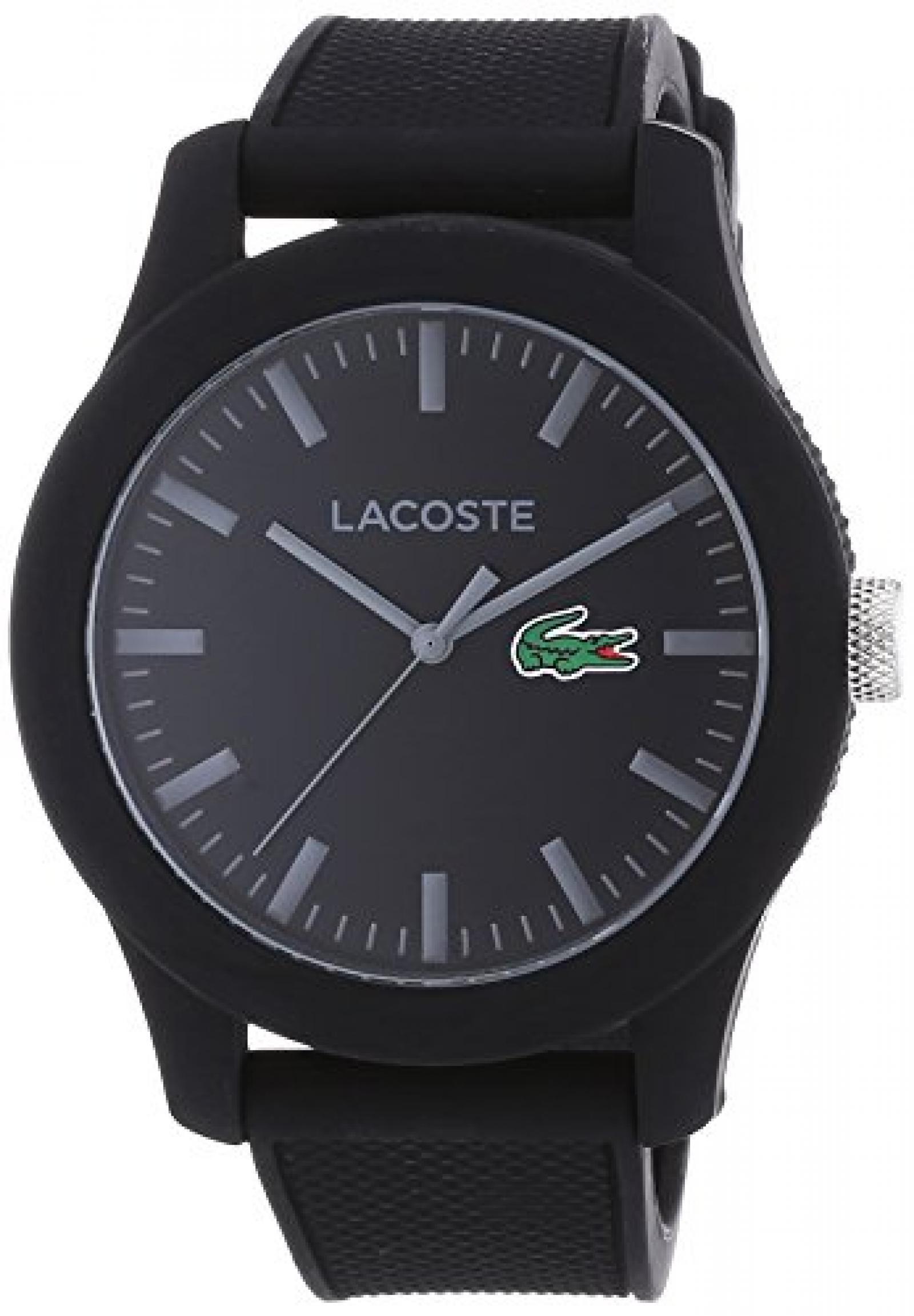 Lacoste Herren-Armbanduhr XL L.12.12 Analog Quarz Silikon 2010766