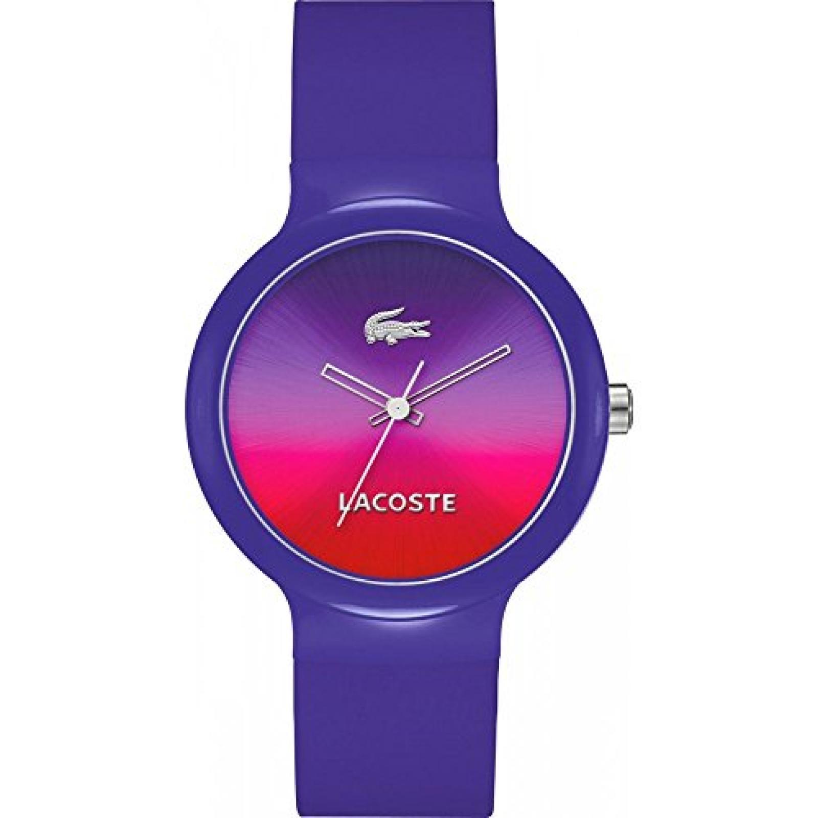 Lacoste Damen-Armbanduhr GOA Analog Quarz Silikon lila 2020079