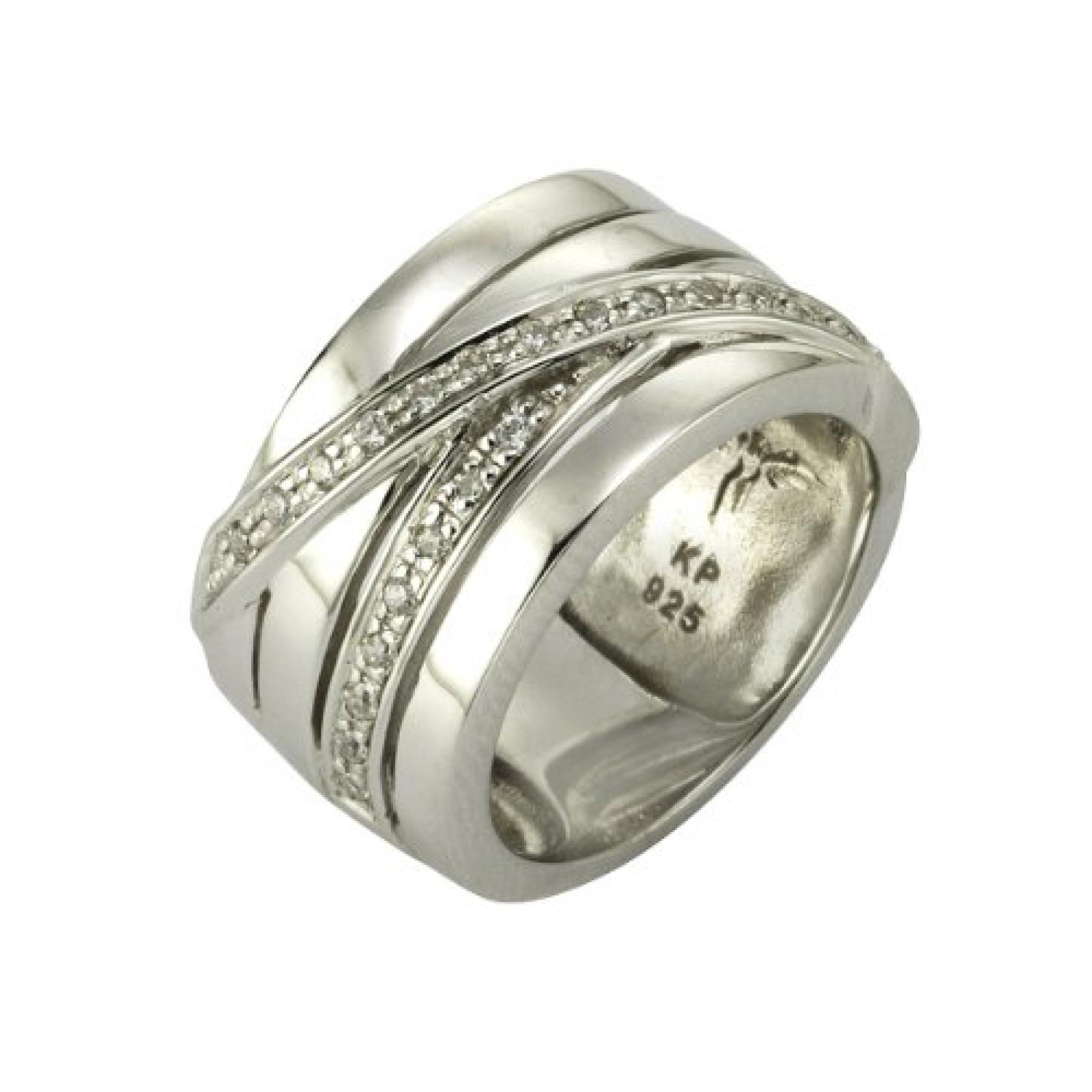 Celesta Damen-Ring 925 Sterling Silber Zirkonia weiß 60 (19.1) 273270870-019