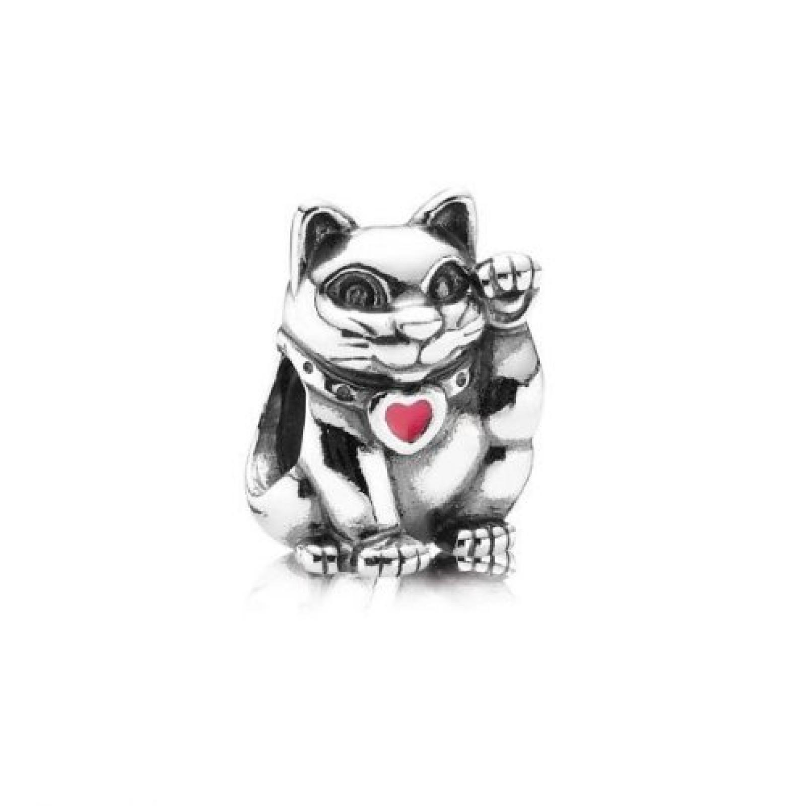 Pandora Element 925/- Sterlingsilber, Winkekatze rot - 790989 EN05