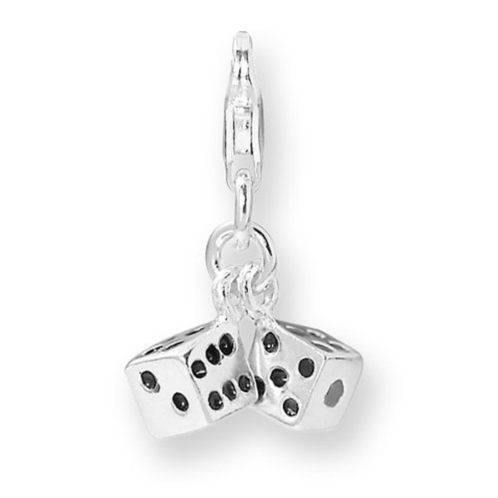 Rafaela Donata Charm Collection Damen-Charm Würfel 925 Sterling Silber  60600026