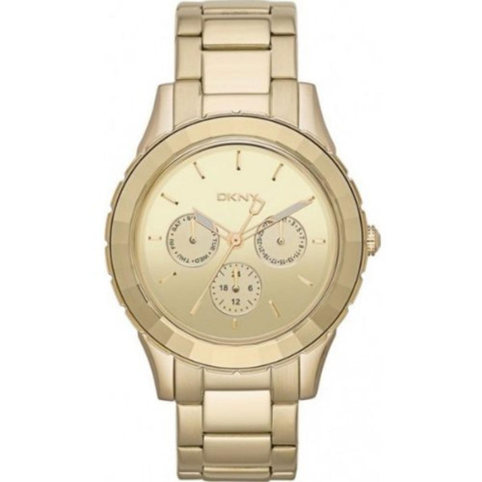 DKNY Herren-Armbanduhr XL Analog Quarz Edelstahl NY2118