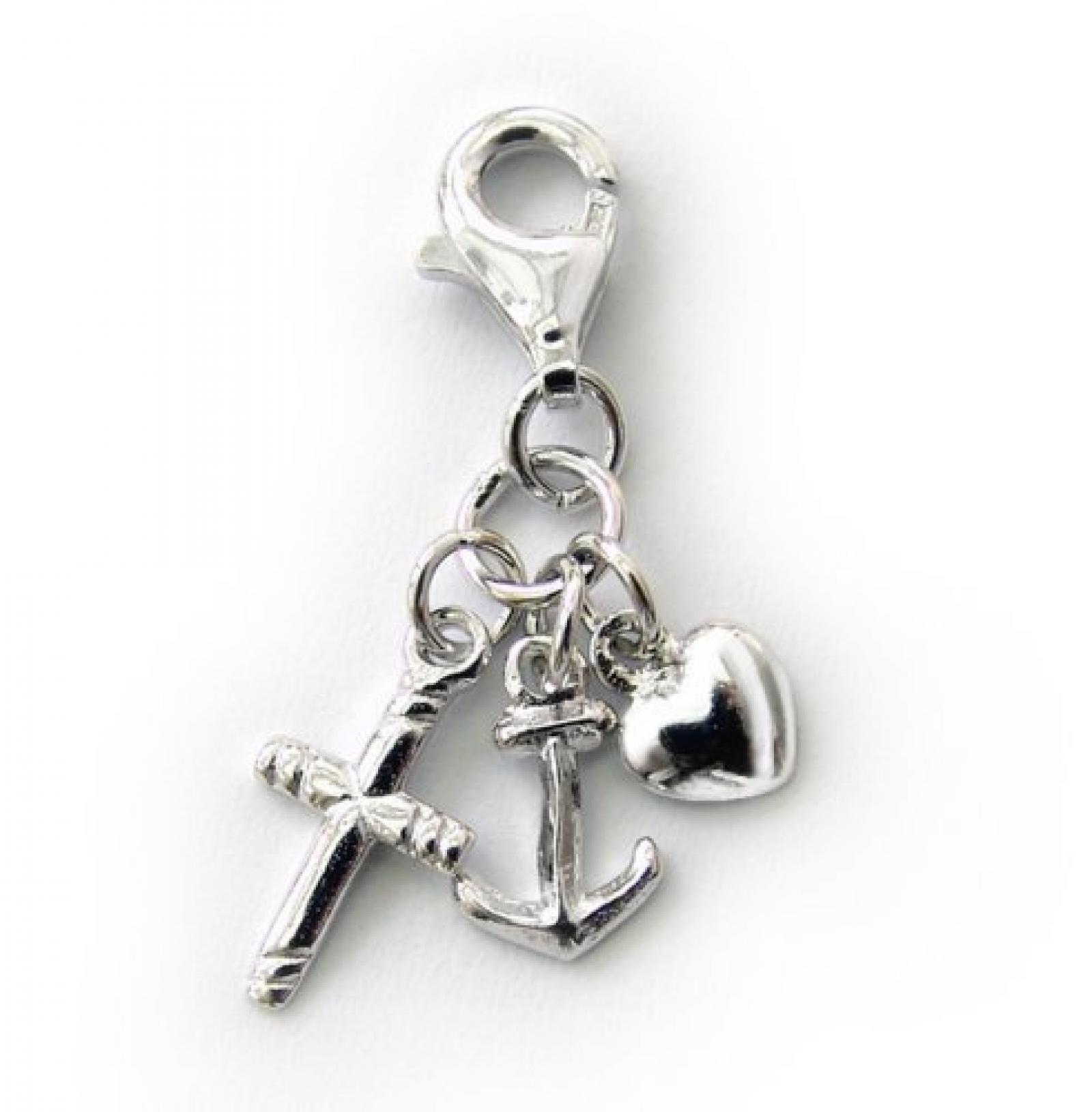ZEEme Damen-Charm Glaube Liebe Hoffnung 925 Sterling-Silber 141240100R
