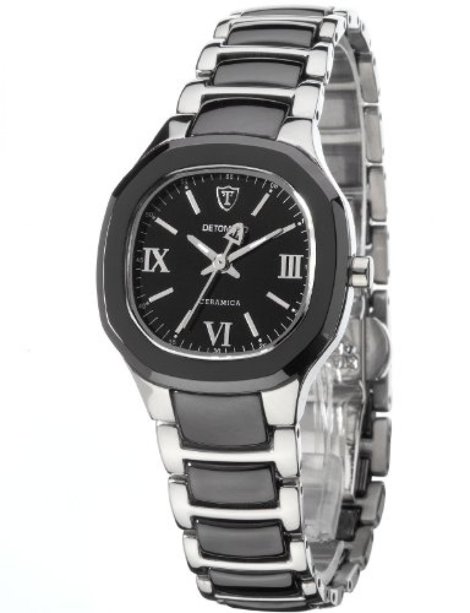 Detomaso Damen-Armbanduhr XS LUCIA Black Ladies Analog Quarz Keramik DT3013-B