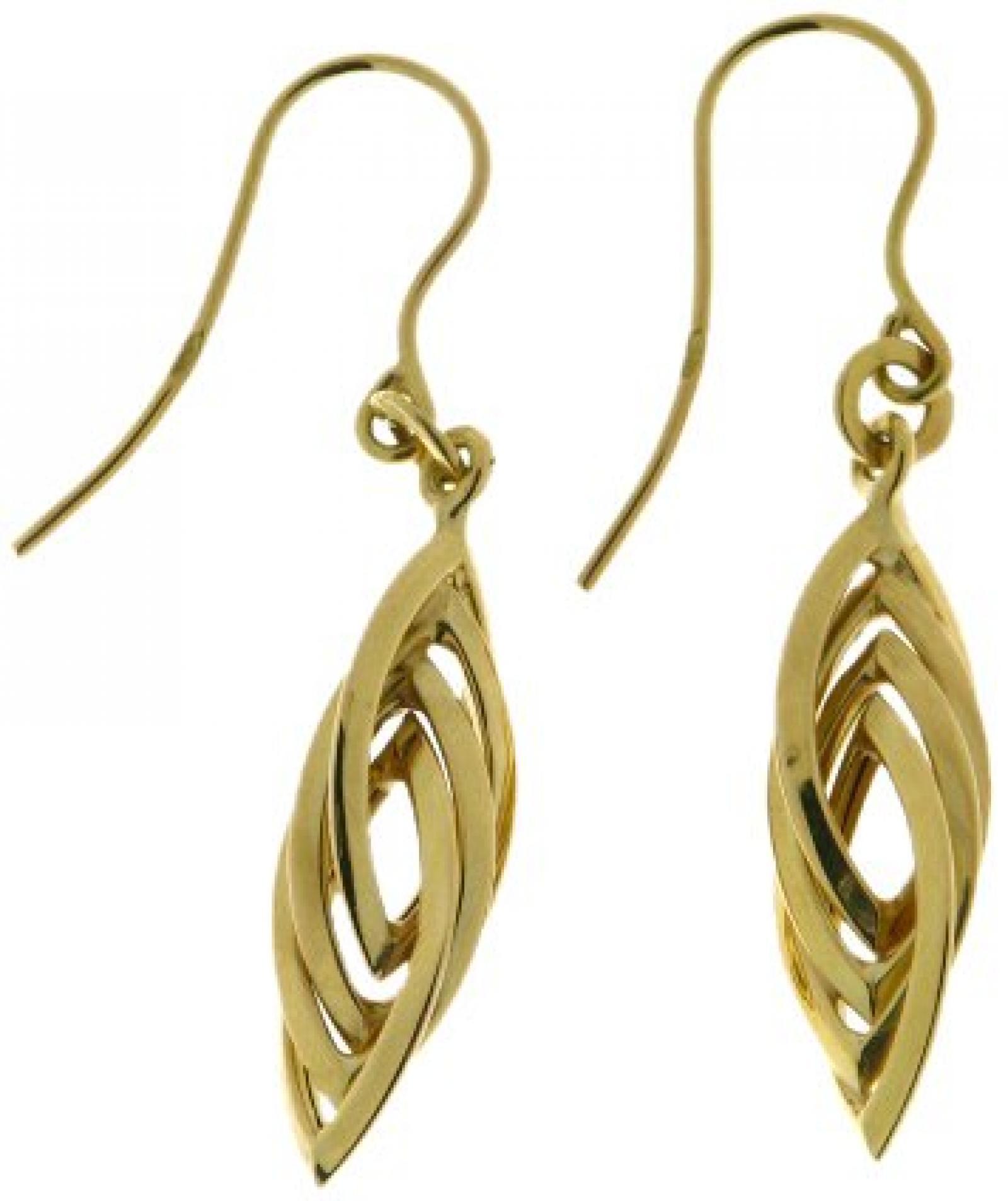 Kettenworld Damen-Ohrhänger 9 Karat (375) Gelbgold 322393