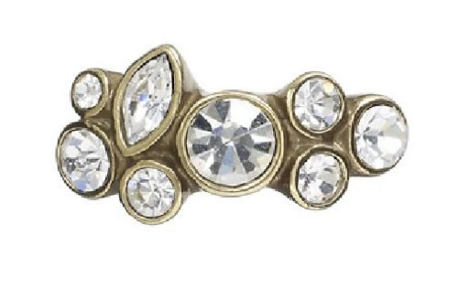 Pilgrim Damen-Ring Classic Vergoldet, Kristall größenverstellbar 652-904