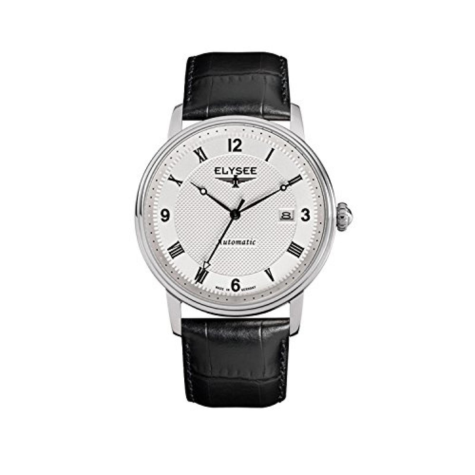 Elysee Herren Uhr Monumentum Automatic Lederband Schwarz