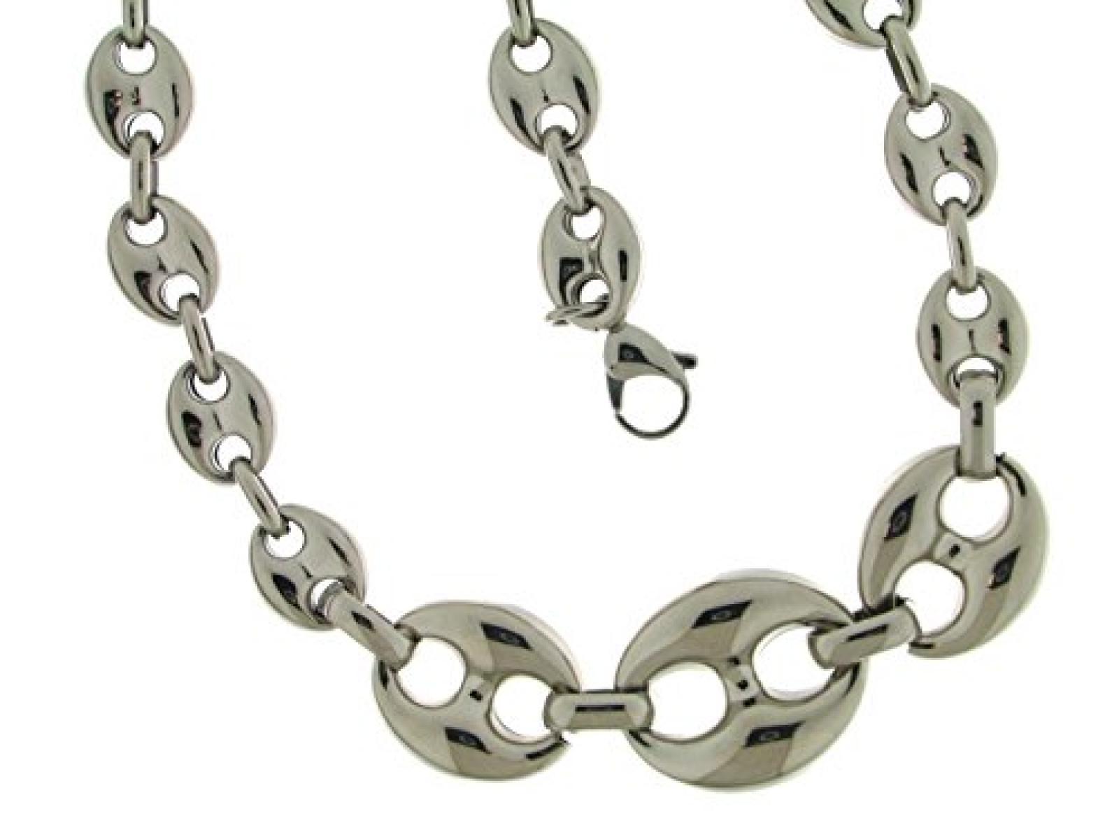 Kettenworld Damen Halskette Edelstahl 337152