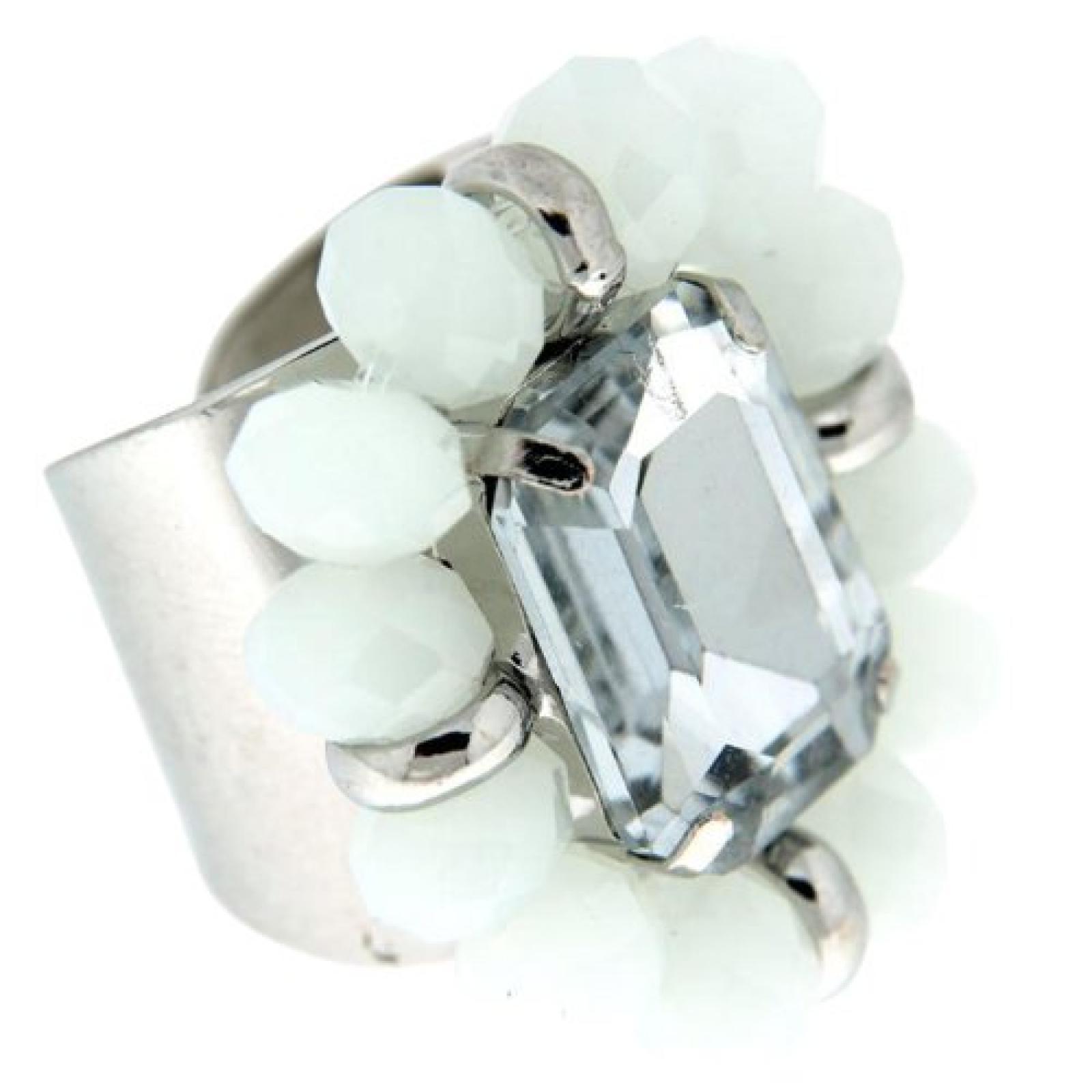 Sweet Deluxe Damen-Ring Adalberta silber/weiß 00942
