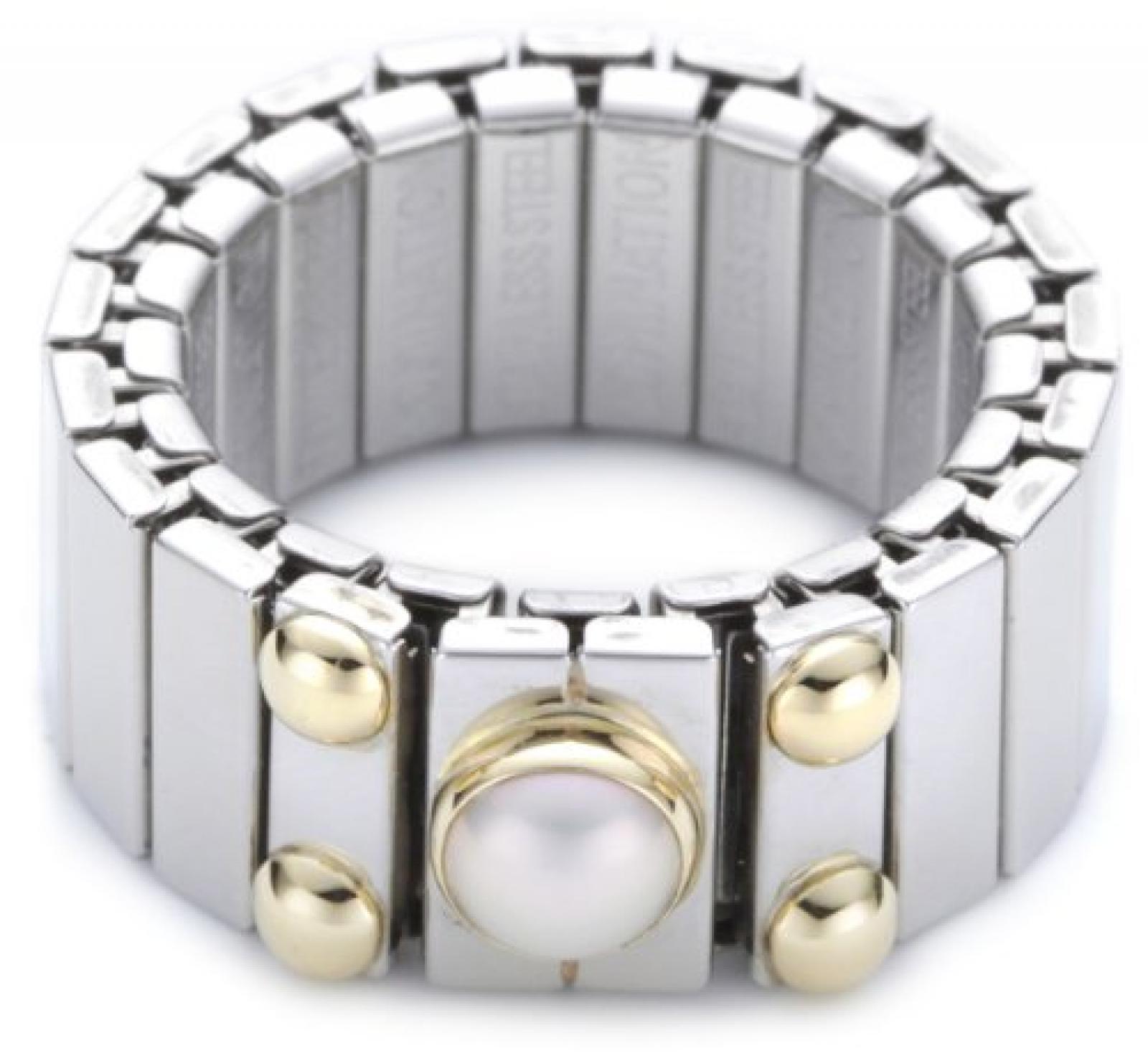 Nomination Damen-Ring Mittel Mit 1 in Perle Weiß Ring größe variabel 040120/013