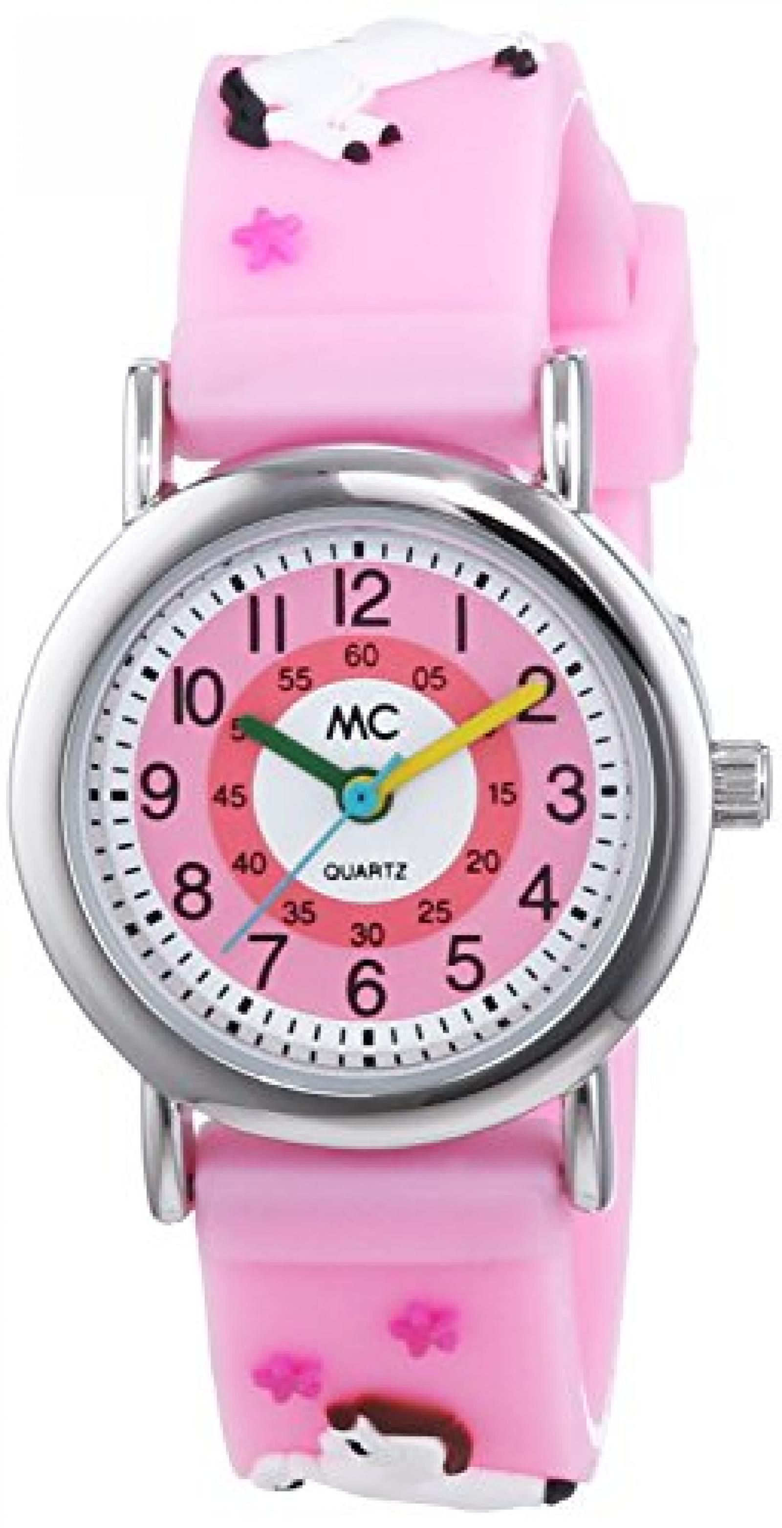 MC Timetrend Mädchen-Armbanduhr Pferd Lernuhr Quarz Plastik 50924