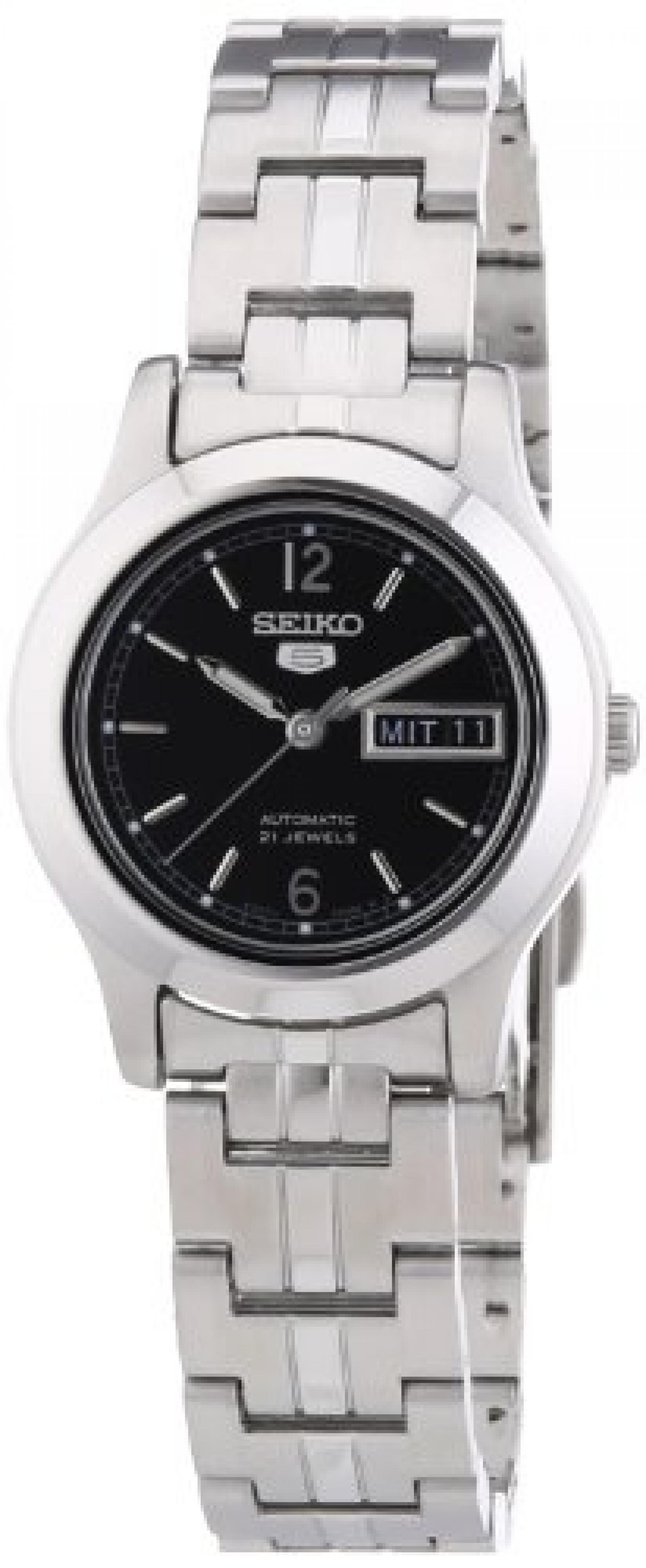 Seiko Damen-Armbanduhr XS Analog Automatik Edelstahl SYMD99K1