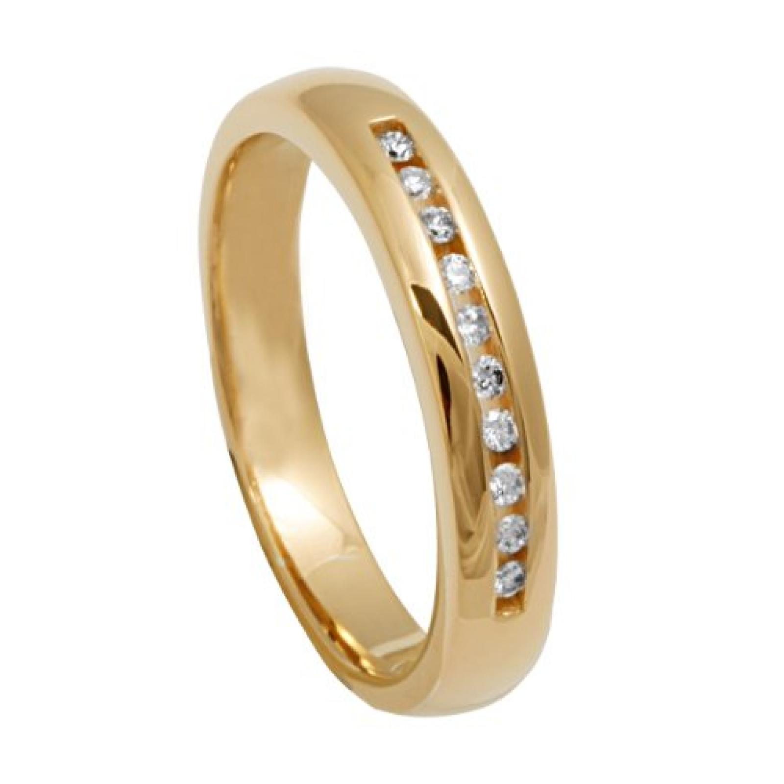 Bella Donna Damen Diamantring 333/000 Gelbgold 10 Brillanten  0,12ct. W-PI