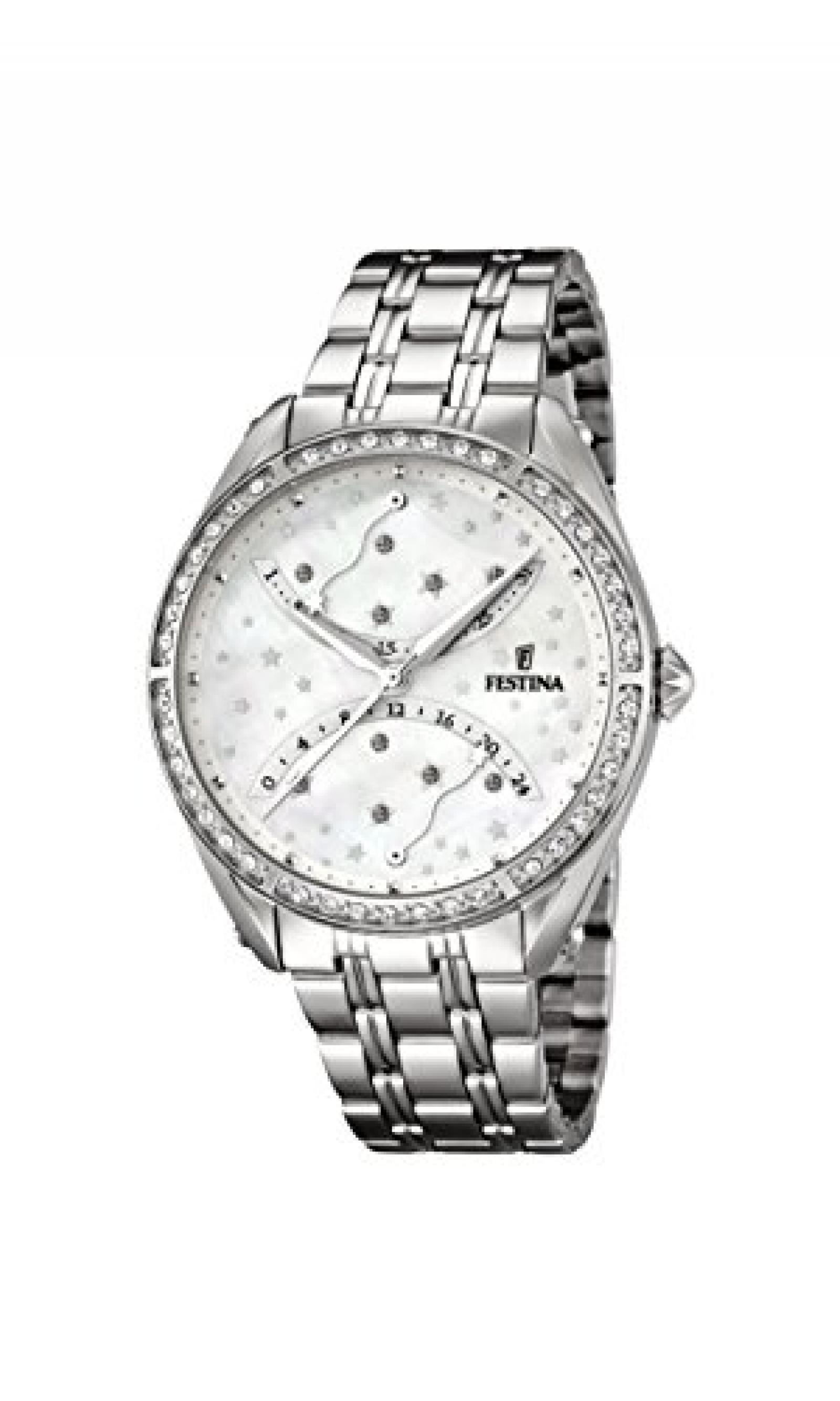 Festina Damen-Armbanduhr Analog Quarz Edelstahl F16741/1