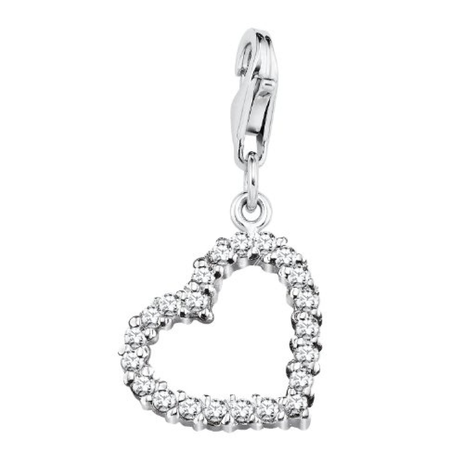Amor Jewelry Damen-Charm Herz 925 Sterling Silber 304184