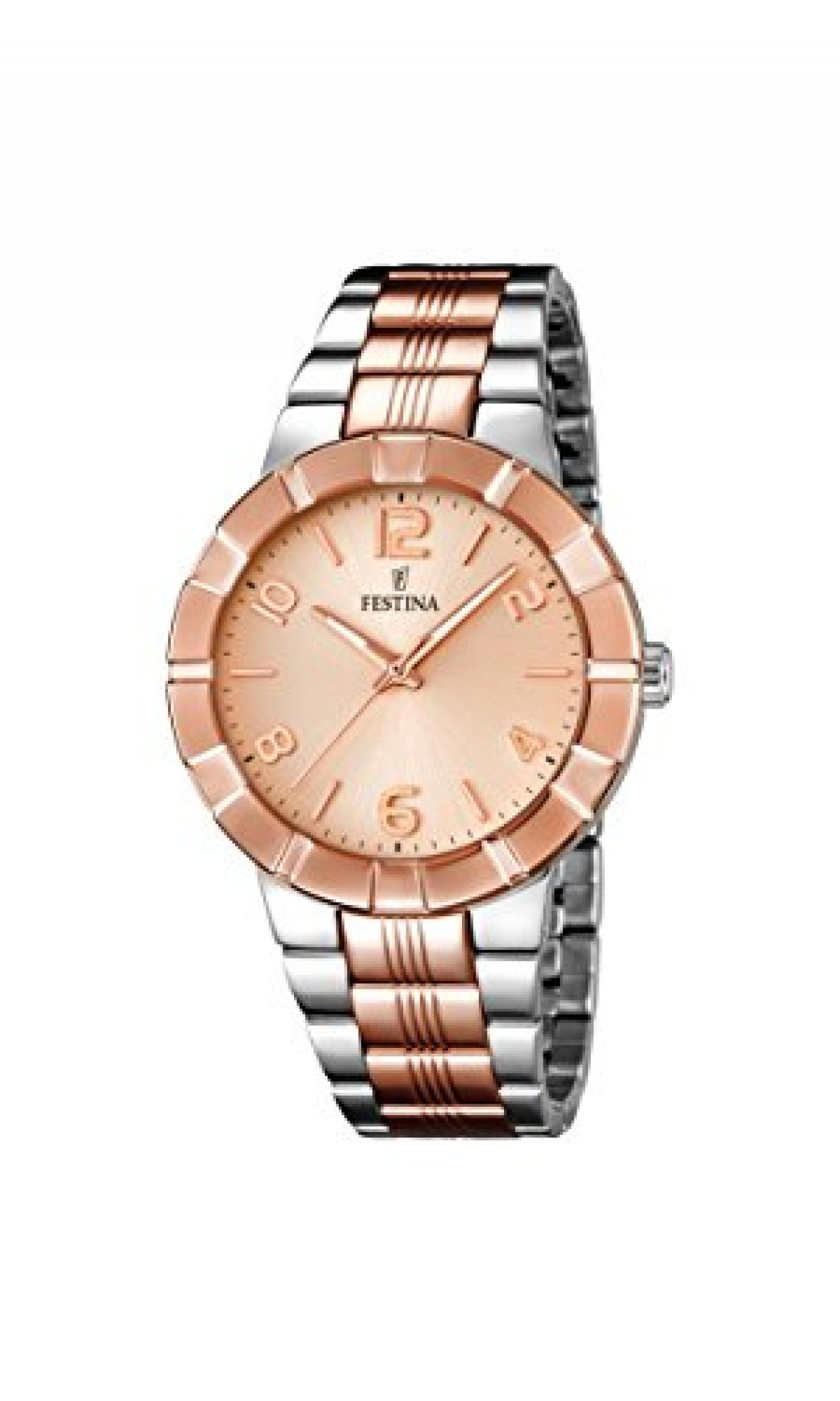Festina Damen-Armbanduhr Analog Quarz Edelstahl F16712/2