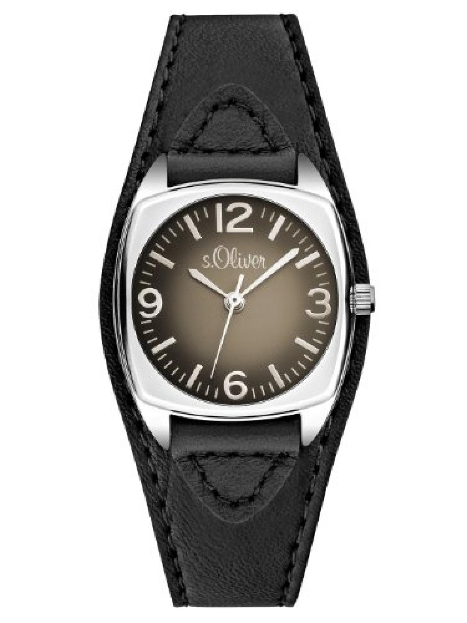 s.Oliver Damen-Armbanduhr XS Analog Quarz Leder SO-2836-LQ