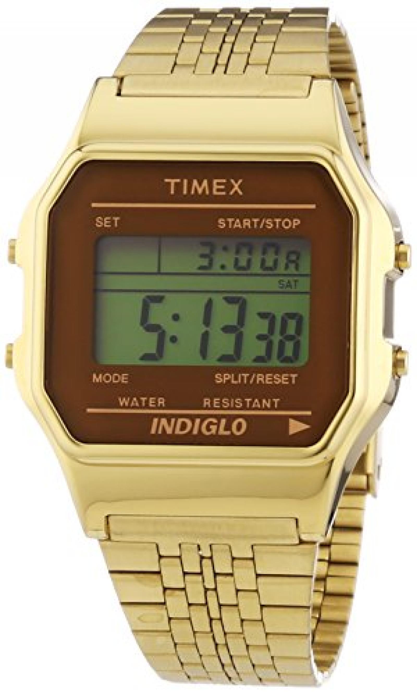 Timex Unisex-Armbanduhr Classic Digital Quarz Edelstahl TW2P48700