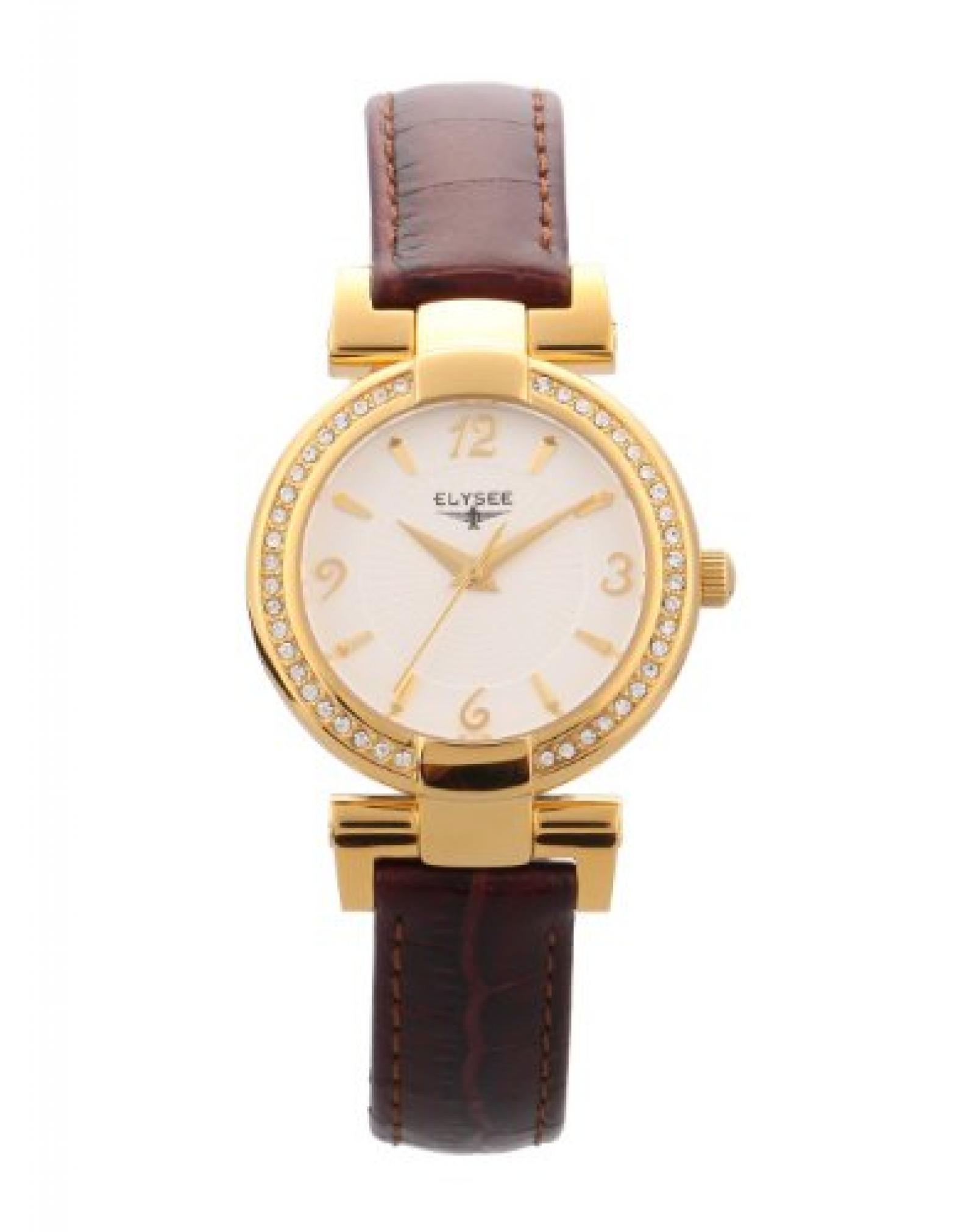 Elysee Damen-Armbanduhr XS ANGELINA Analog Leder 33032