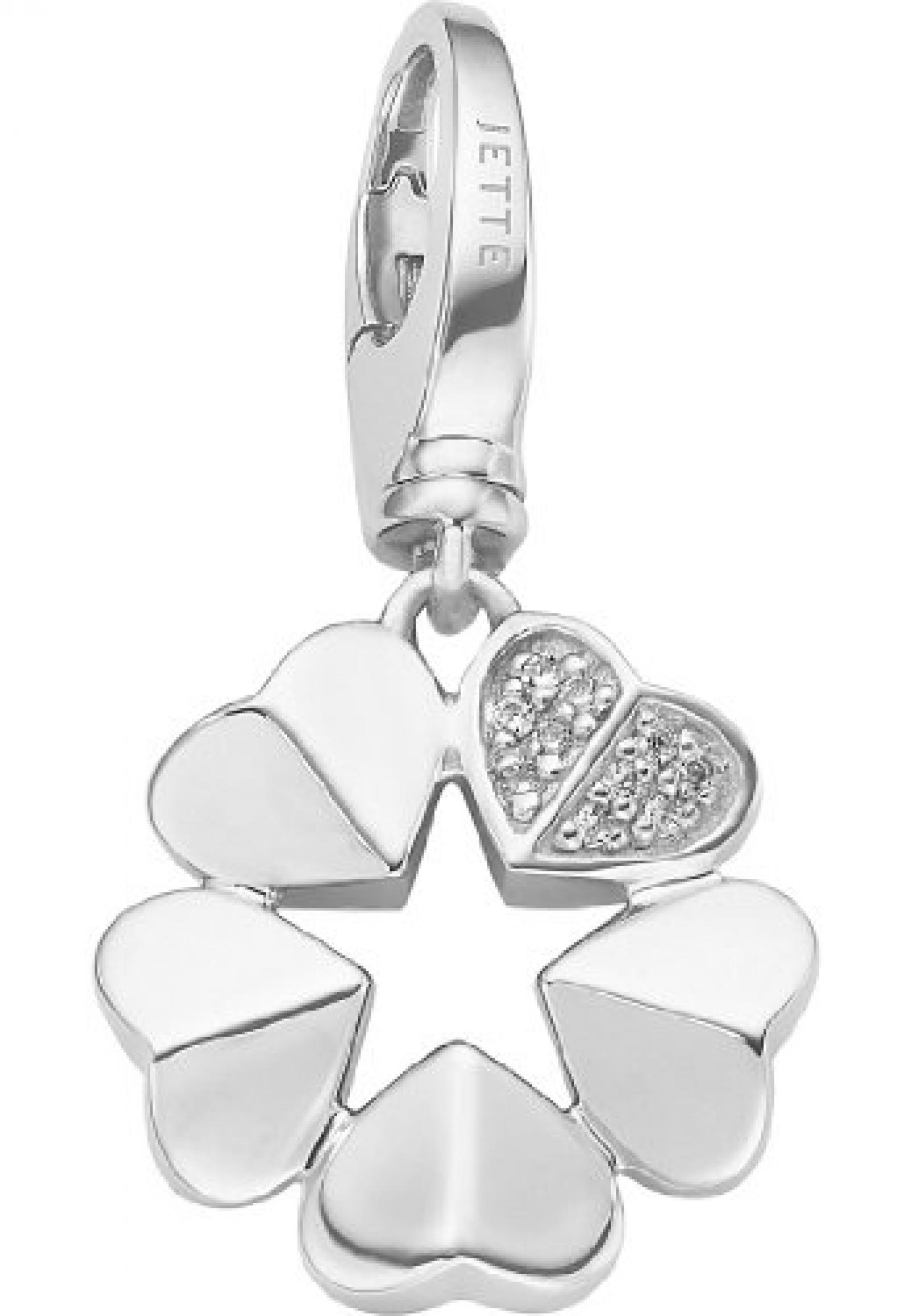 JETTE Charms Damen-Charm CHARM 925er Silber 10 Zirkonia One Size, silber