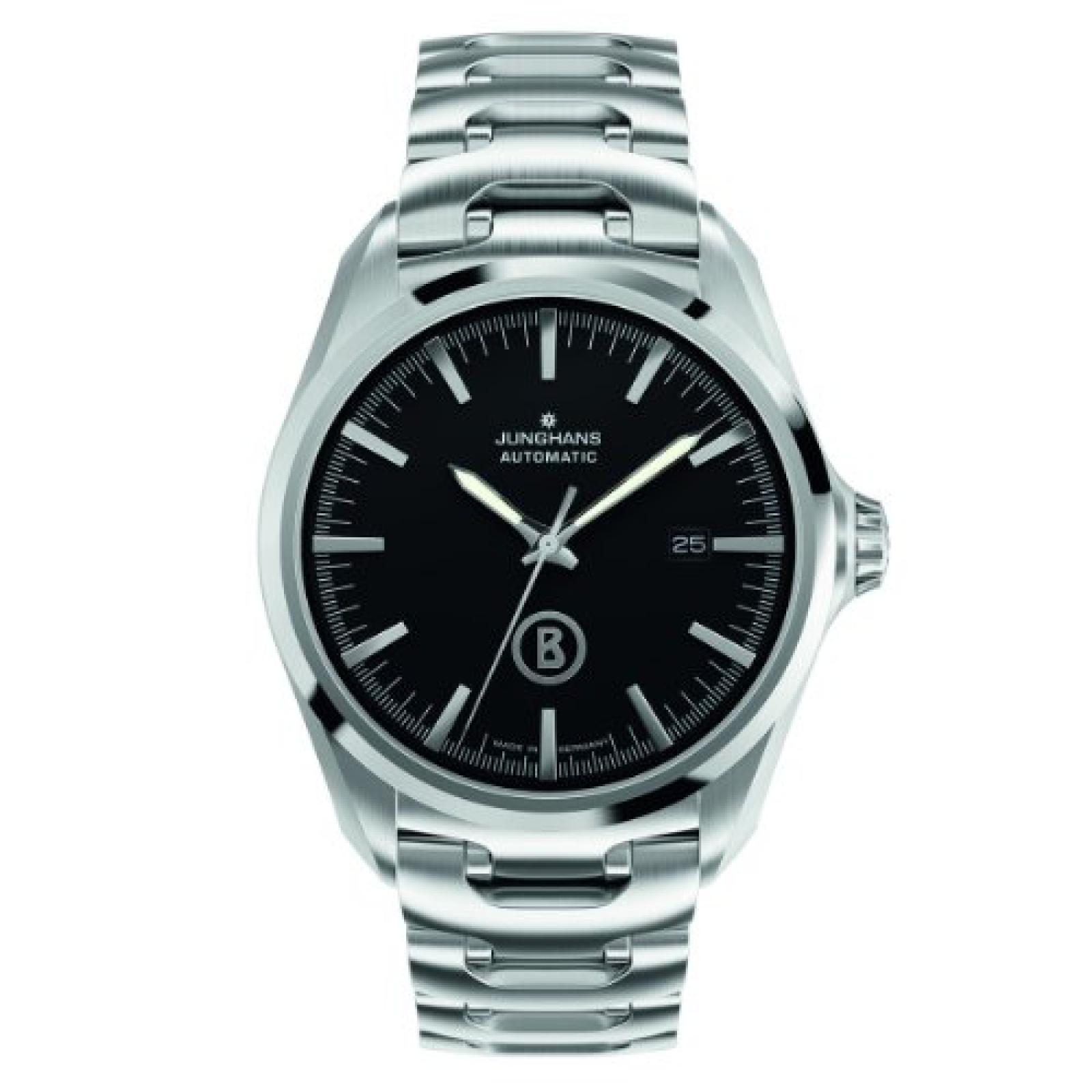 Junghans Herren-Armbanduhr XL Bogner Willy Automatic Analog Automatik Edelstahl 027/4275.44