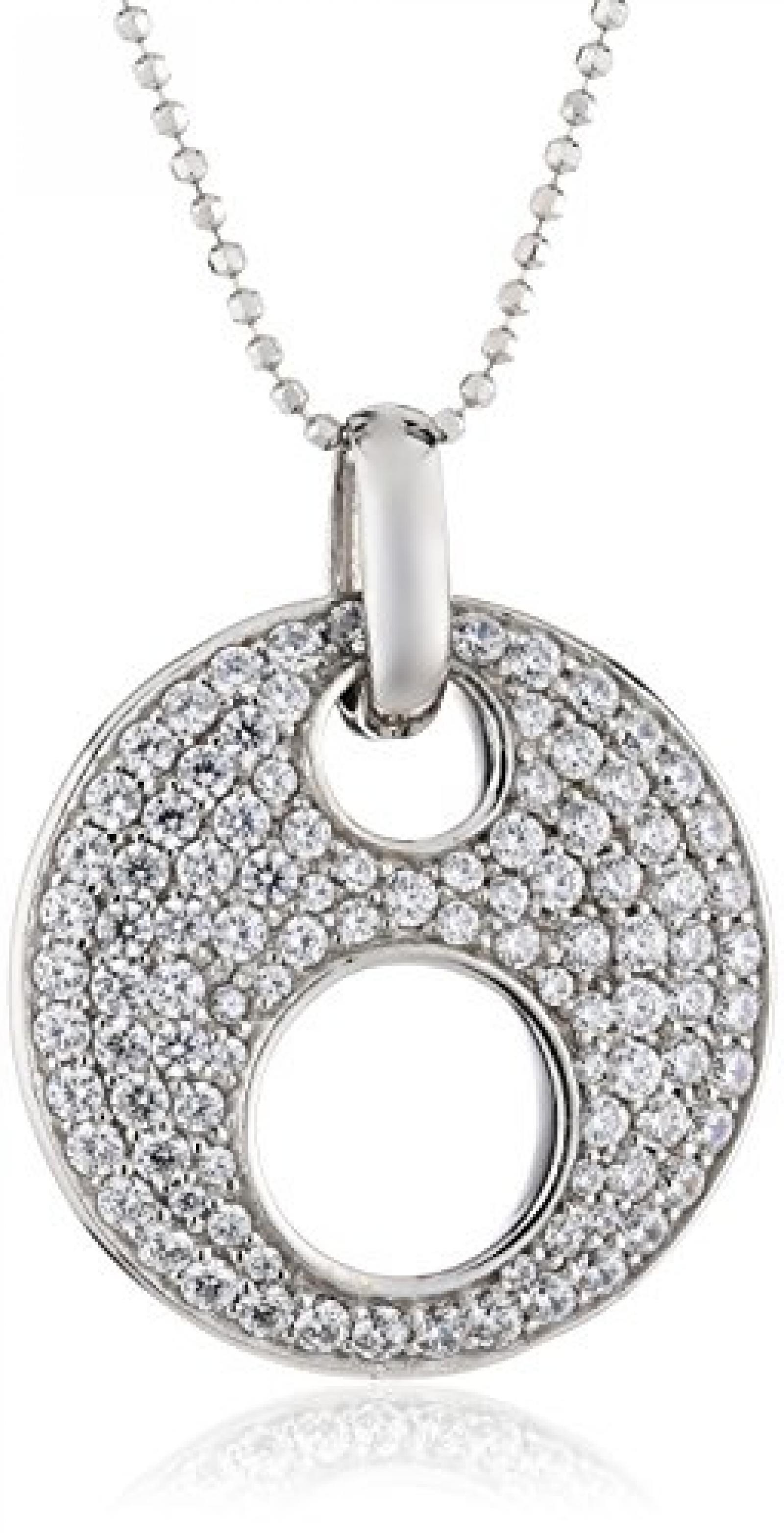 Celest Damen-Anhänger mit Kette 925 Sterling Silber 60cm Zirkonia weiß 500244283-60L