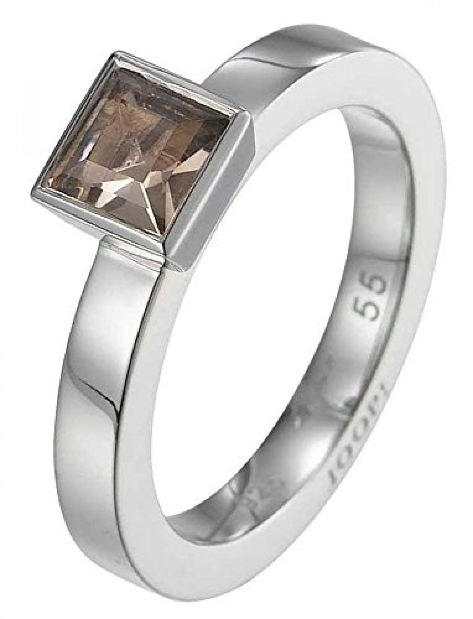 Joop Damen-Ring 925 Sterling Silber rhodiniert Rauchquarz Mia braun Gr.63 (20.1) JPRG90495B630