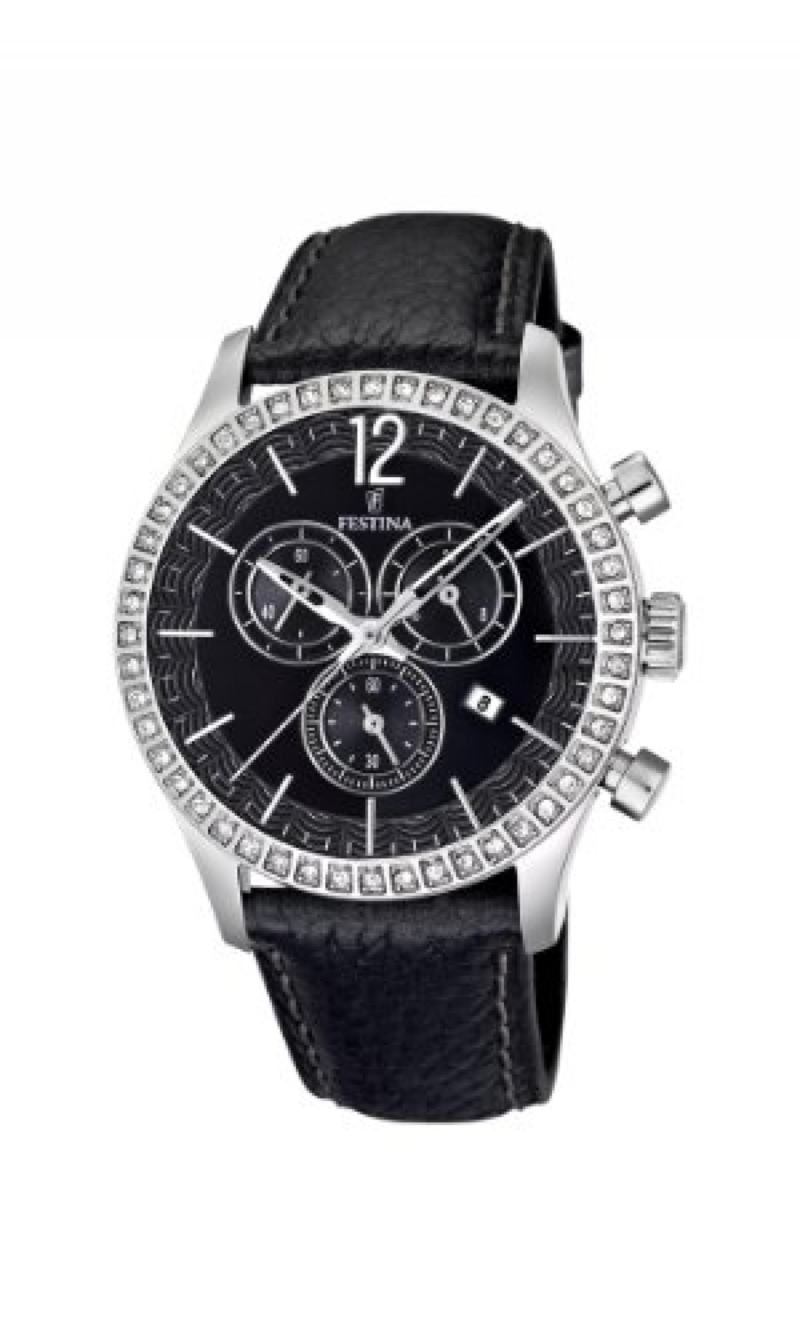 Festina Damen-Armbanduhr Analog Quarz Leder F16590/4
