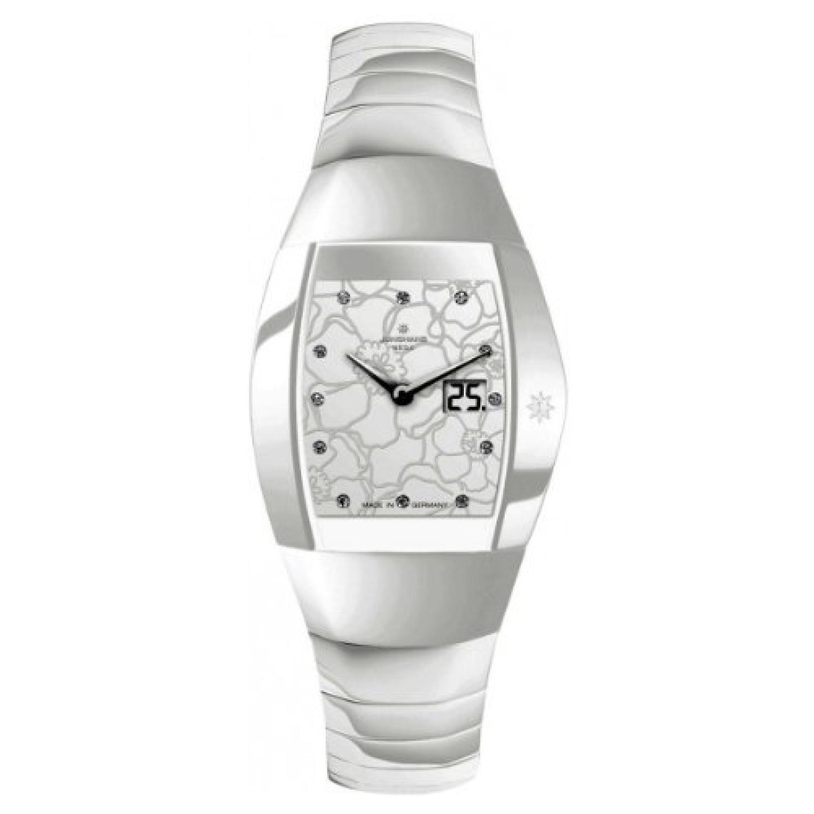 Junghans Damen-Armbanduhr XS Aura Quadra Analog Keramik 013/1120.44