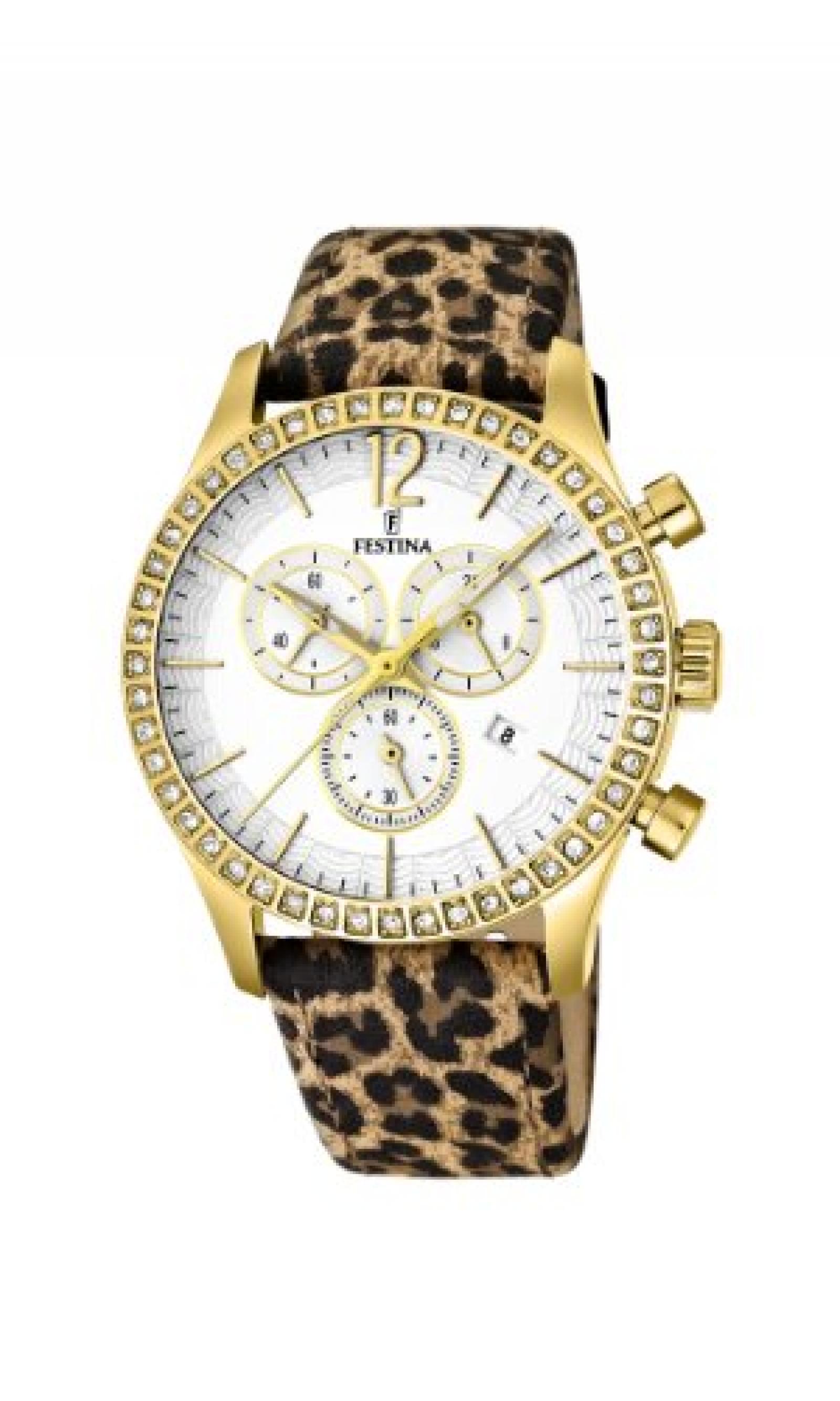 Festina Damen-Armbanduhr Dreamtime Chronograph Quarz Leder F16605/5