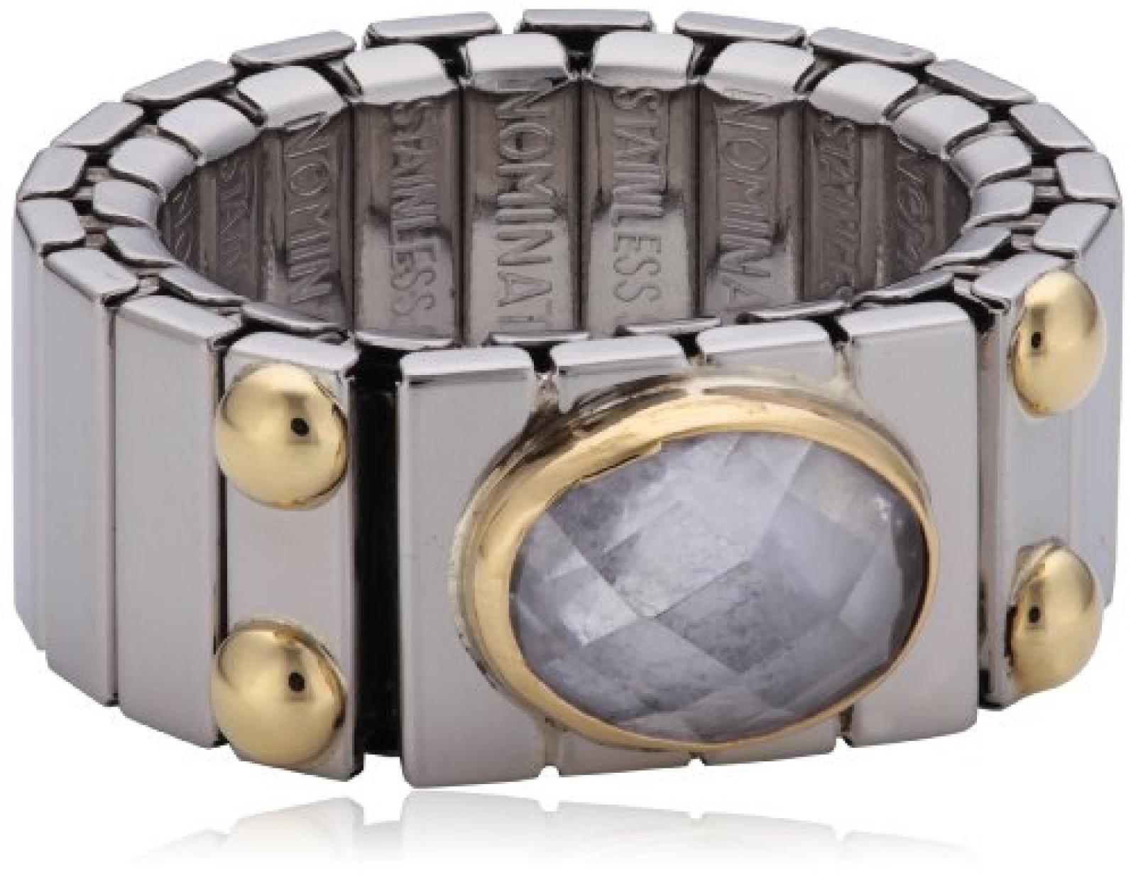 Nomination Damen-Ring Mittel Horiontal Facettiertem Zirkon Weiß Ring größe variabel 041522/010