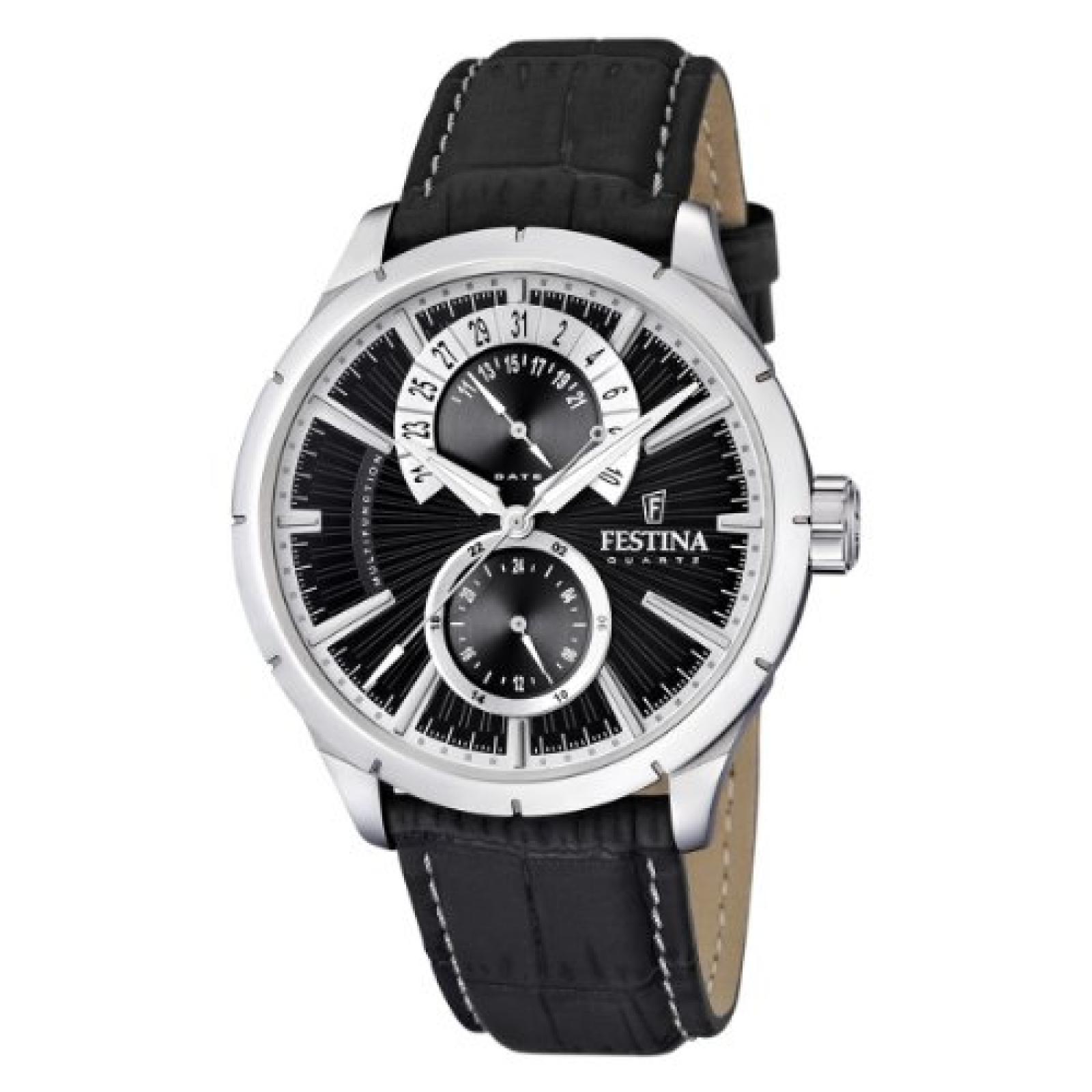 Festina Herren-Armbanduhr XL Analog Quarz Leder F16573/3