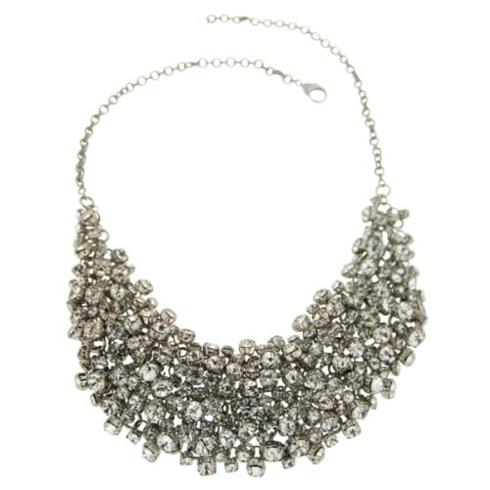 Sweet Deluxe Damen-Collier Josefine silber/kristall 50 cm 00206