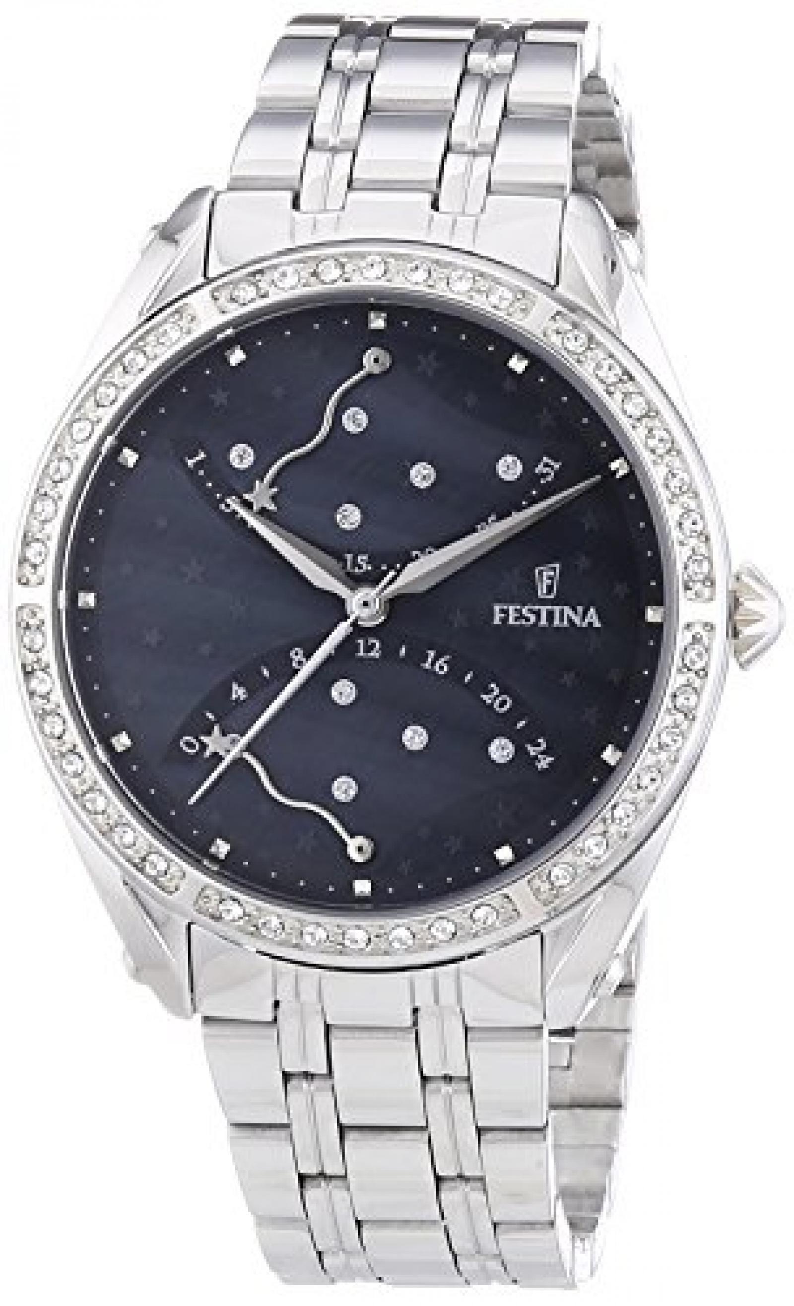 Festina Damen-Armbanduhr Mademoiselle Analog Quarz Edelstahl F16741/2