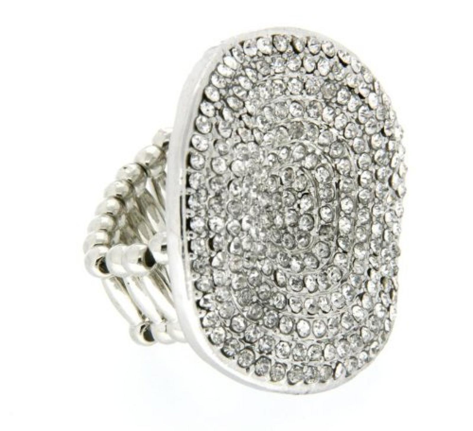 Sweet Deluxe Damen-Ring Messing Aada silber/crystal 02173