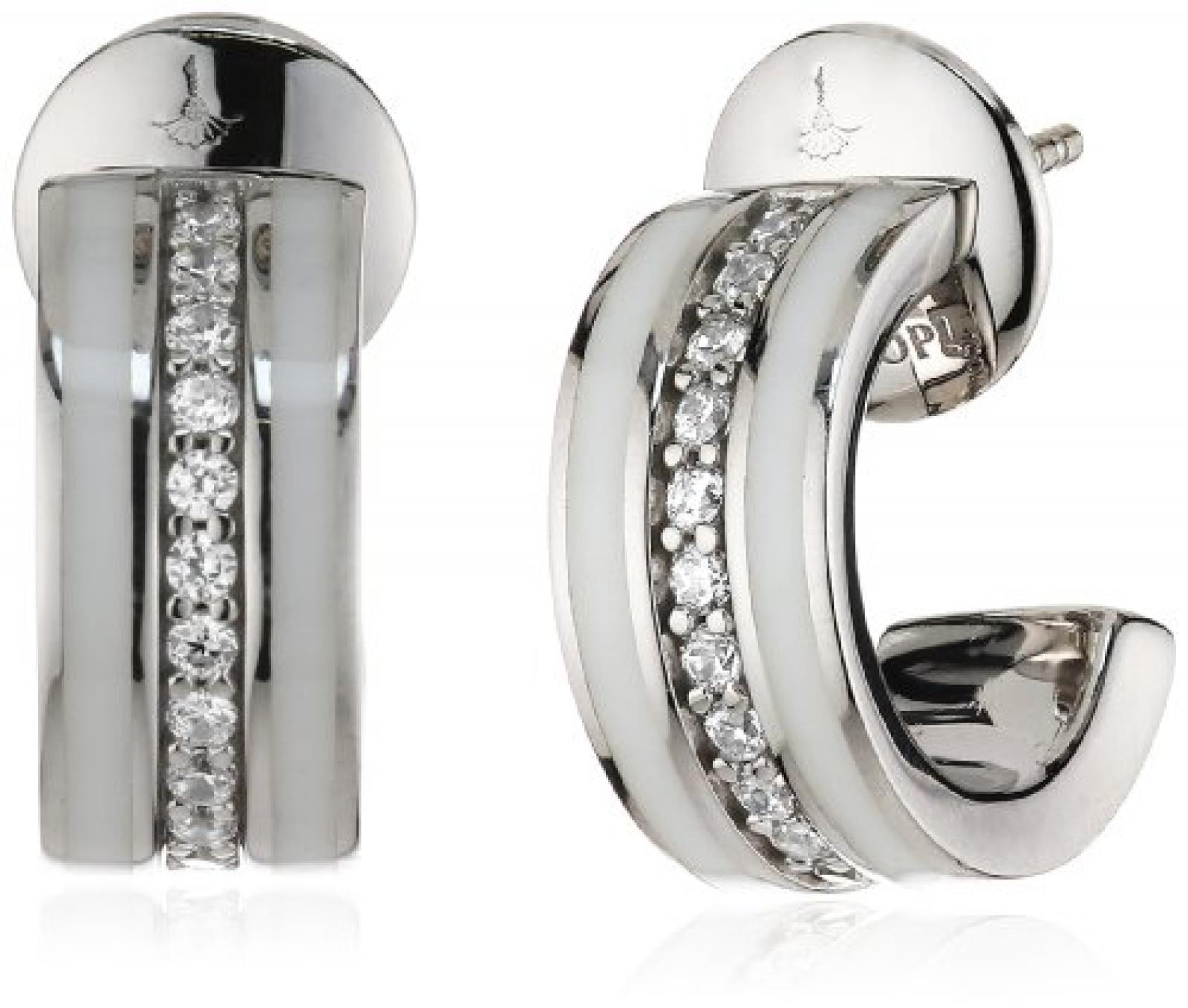 Joop Damen-Ohrhänger Epoxy Zirkonia weiss 925 Sterling Silber JPER90254B000