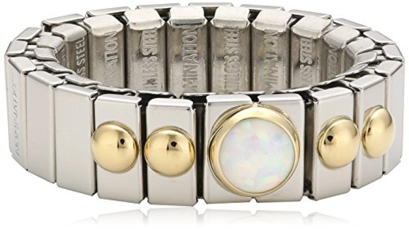 Nomination Damen-Ring Klein Mit 1 in Opal Weiß Ring größe variabel 040101/007