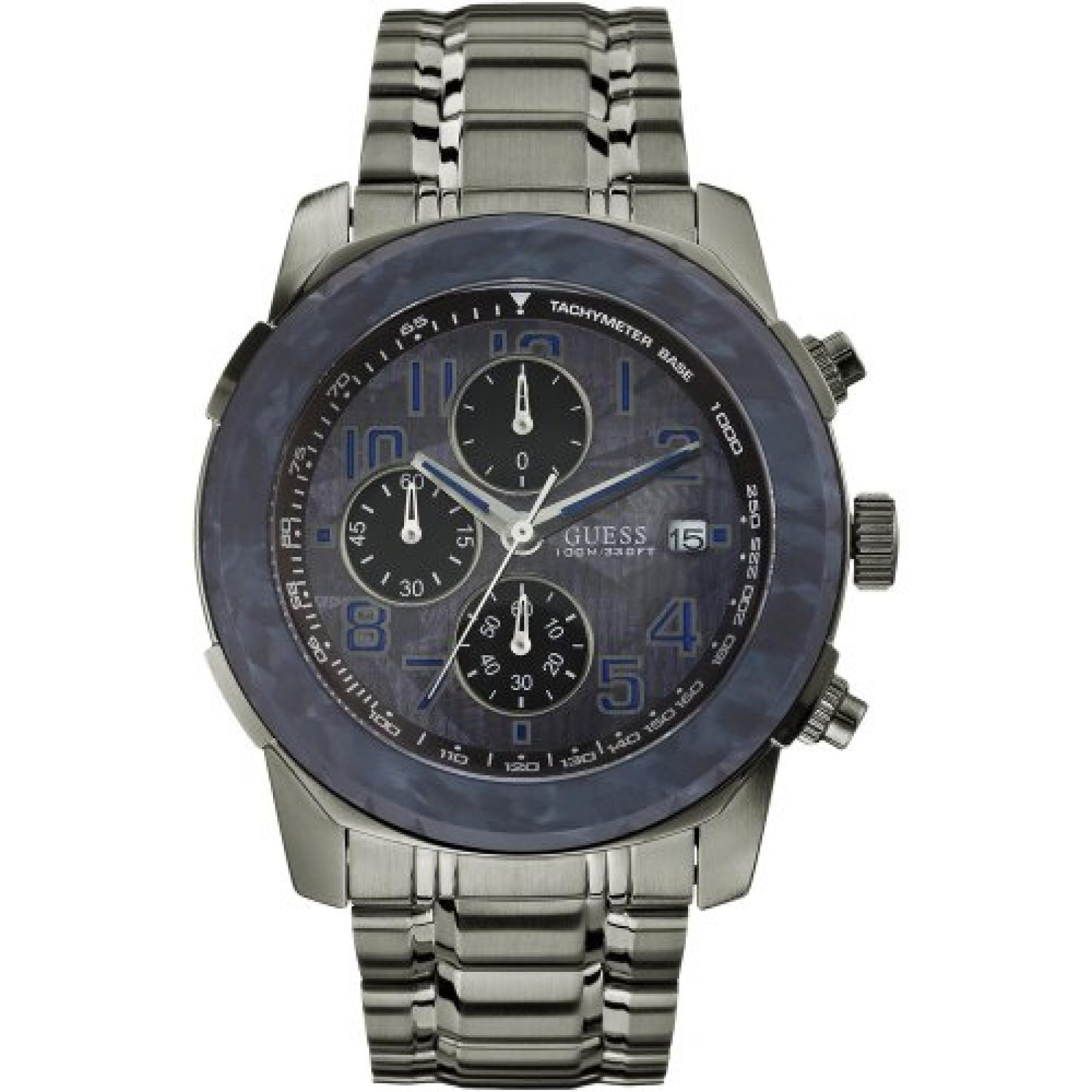 Guess Herren-Armbanduhr XL Analog Quarz Edelstahl W22522G2