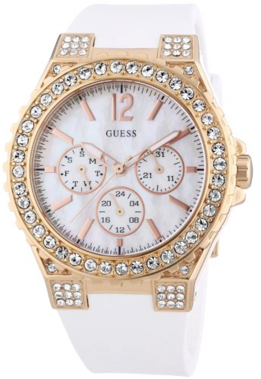 Guess Damen-Armbanduhr Analog Quarz Silikon W16577L1