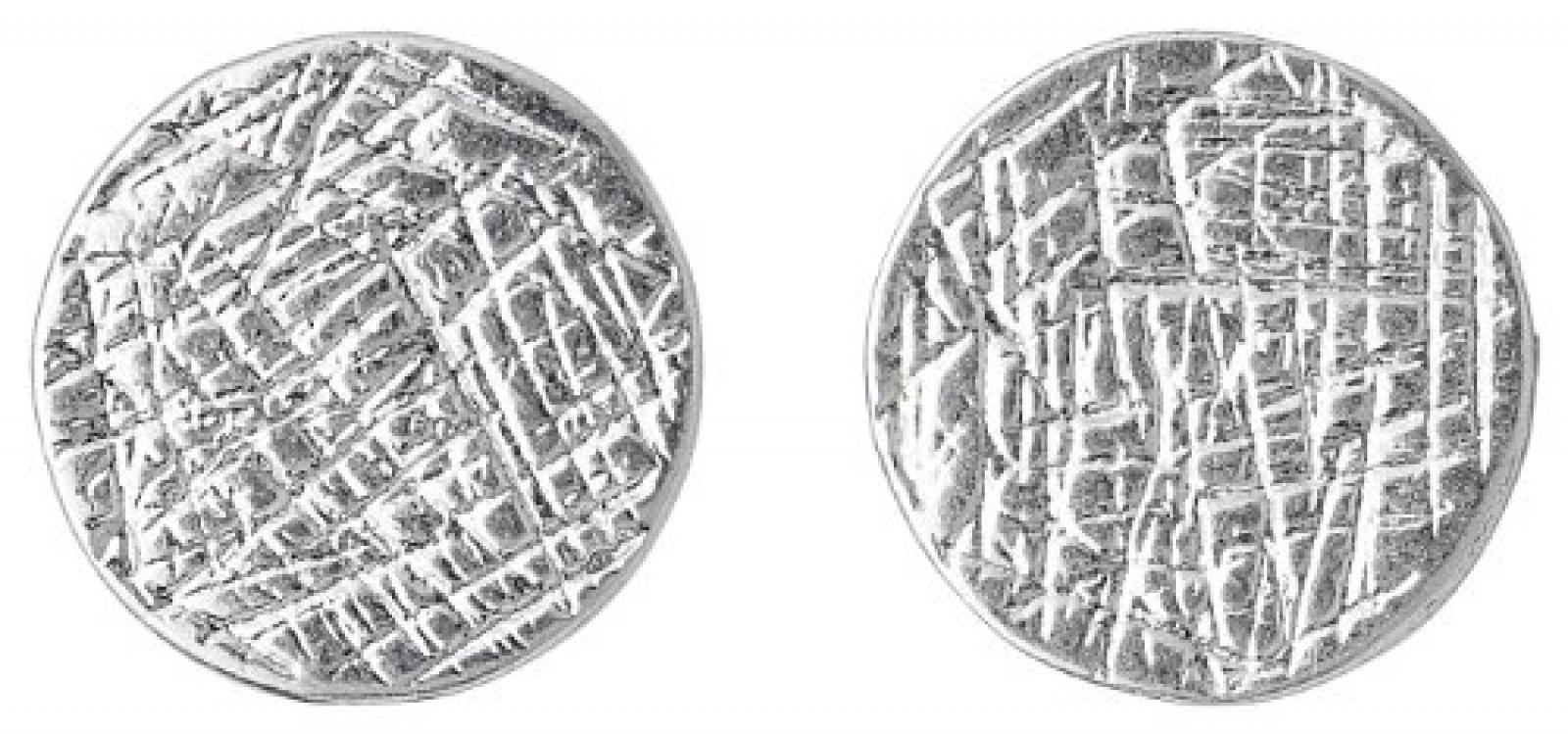 Pilgrim Jewelry Damen-Ohrstecker Messing Ear post 1.0 cm  versilbert 281346043